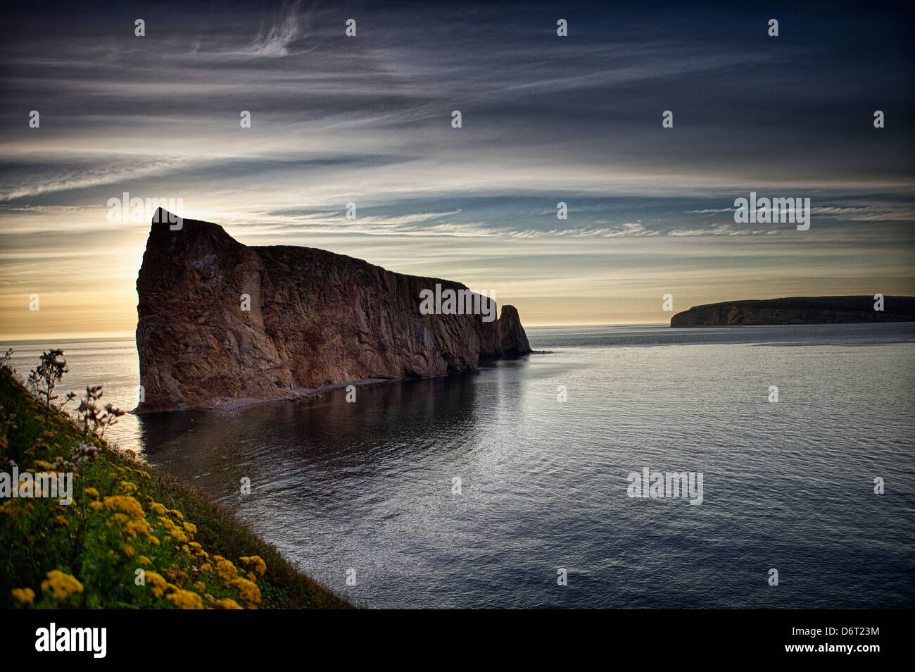 'Rocher Percé' in the 'gaspé' peninsula. Gulf of St-Lawrence - Stock Image