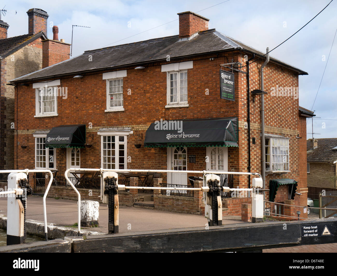 Restaurant at Stoke Bruerne on the Grand Union Canal, Northamptonshire - Stock Image