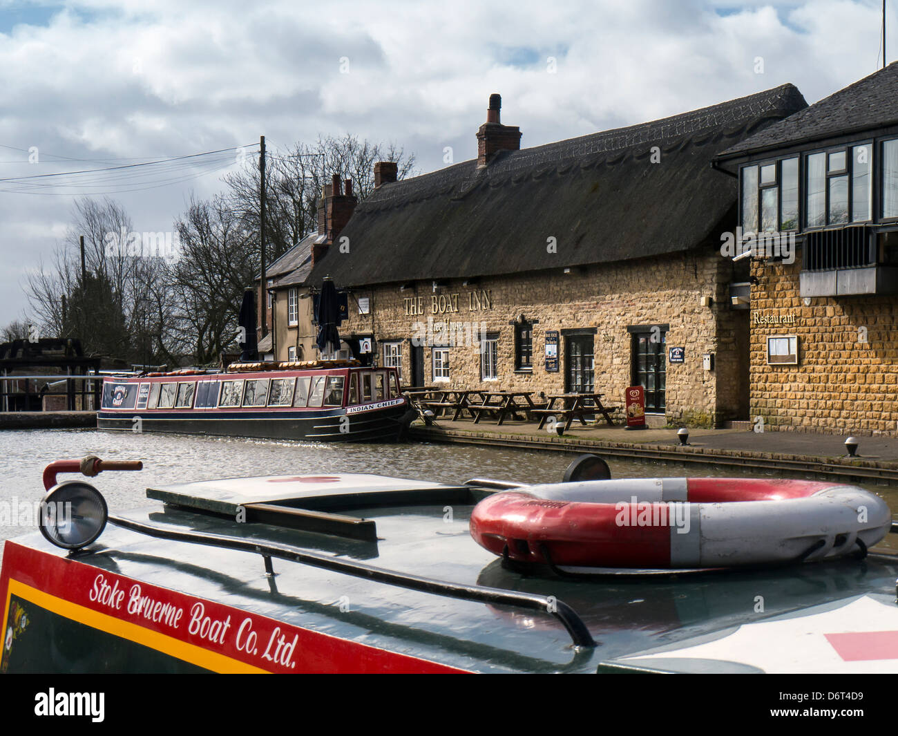 Stoke Bruerne on the Grand Union Canal, Northamptonshire - Stock Image