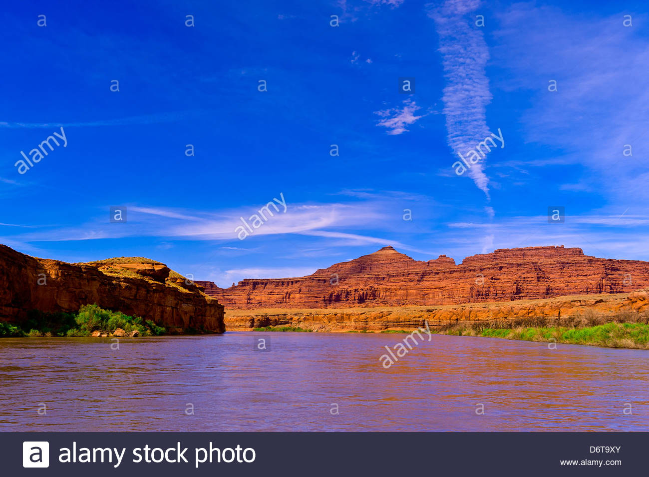 Pyramid Butte, Meander Canyon section of the Colorado River, near Canyonlands National Park, Utah, USA. - Stock Image