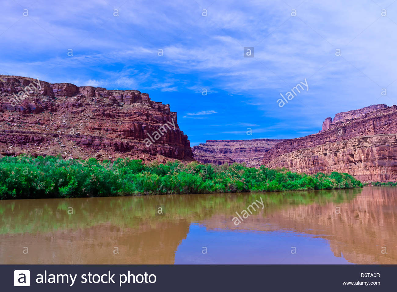 Meander Canyon section of the Colorado River, Utah, USA. - Stock Image
