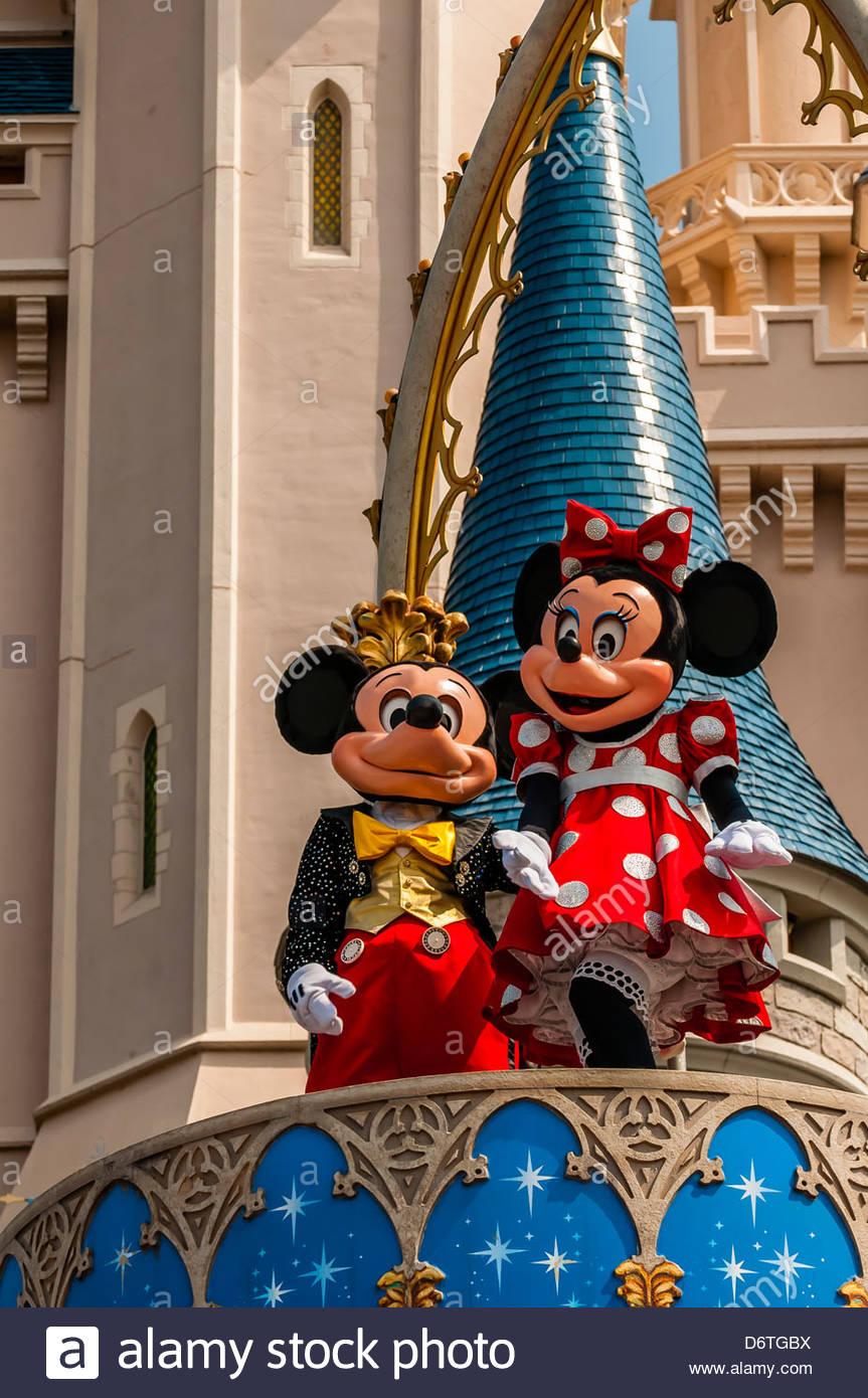 Mickey Mouse Magic Kingdom Park Florida Stock Photos