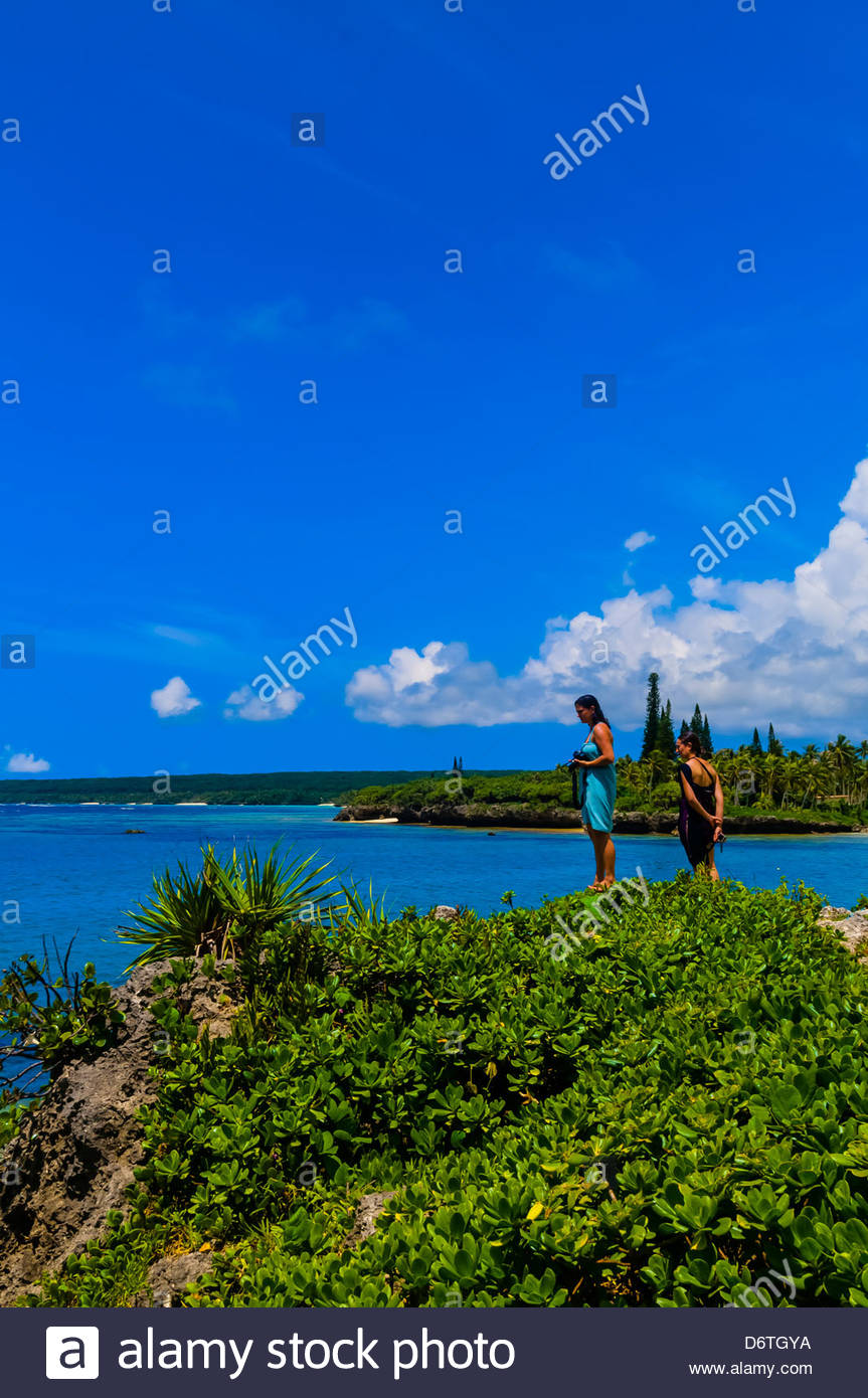 Mou Beach, Lifou (island), Loyalty Islands, New Caledonia - Stock Image