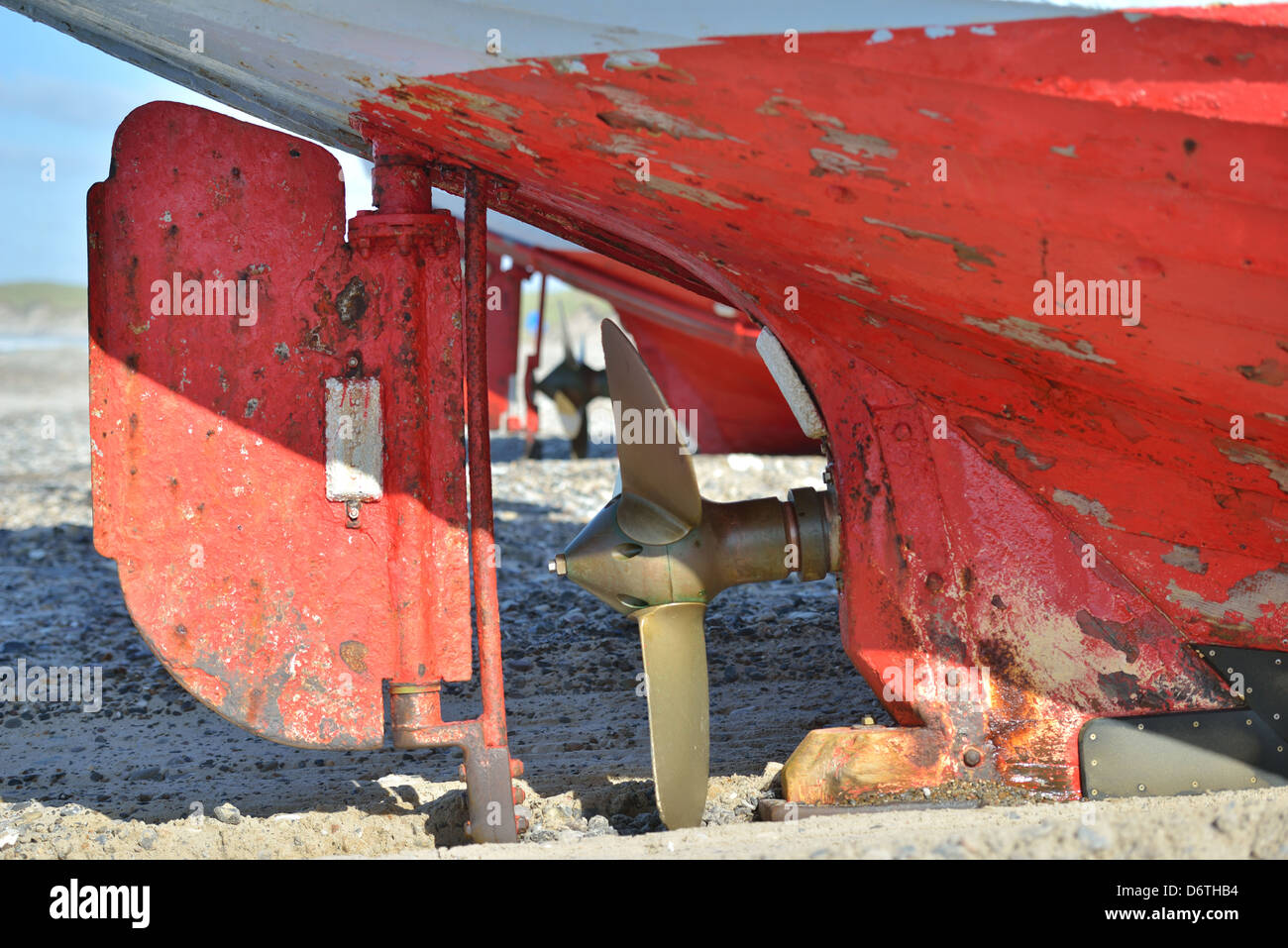 Propeller of a fishing boat - Stock Image
