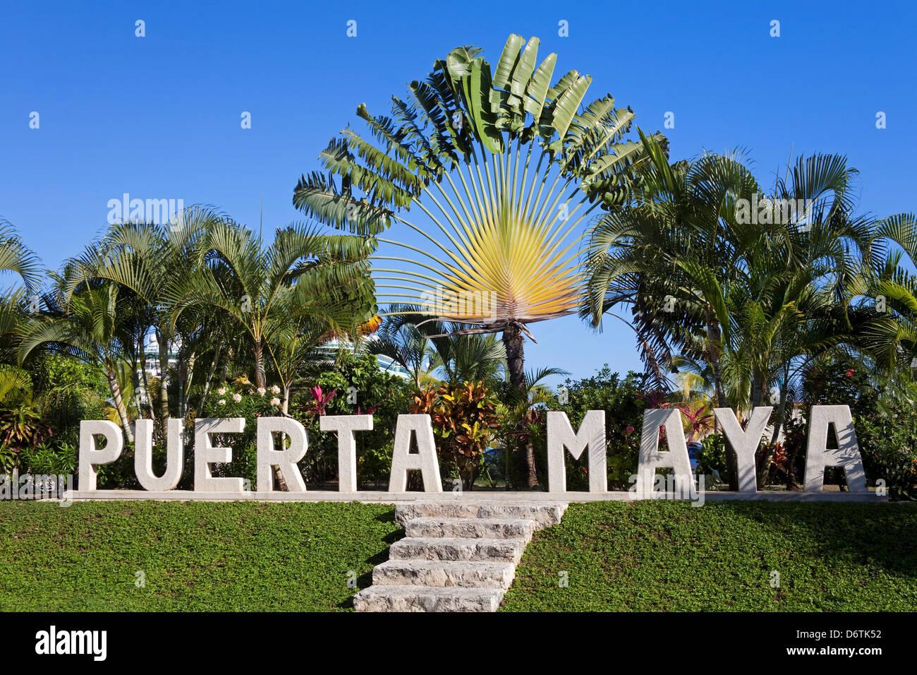 Sign in Puerta Maya, Cozumel, Quintana Roo, Yucatan ...