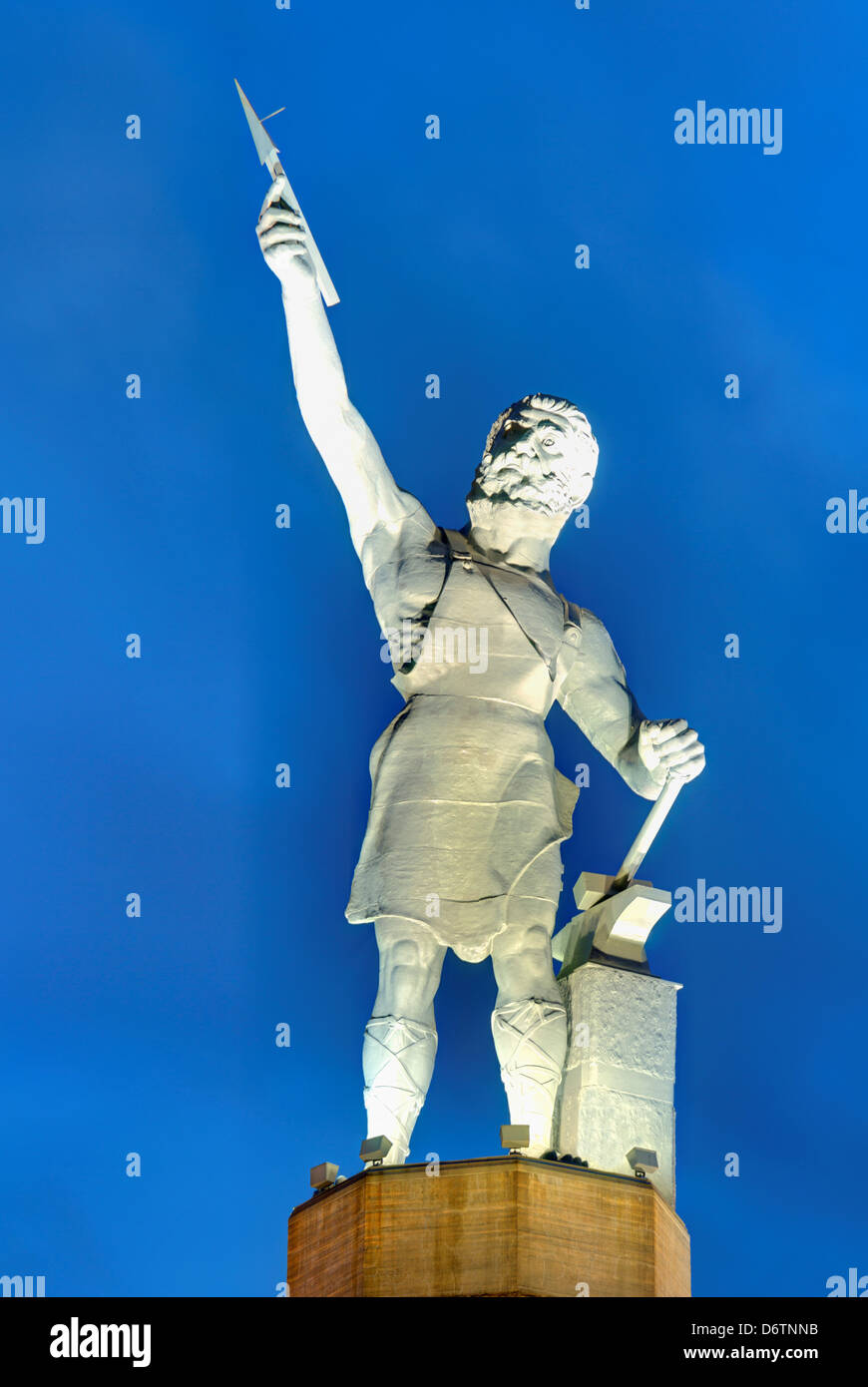 USA, Alabama, Birmingham, Vulcan statue Stock Photo