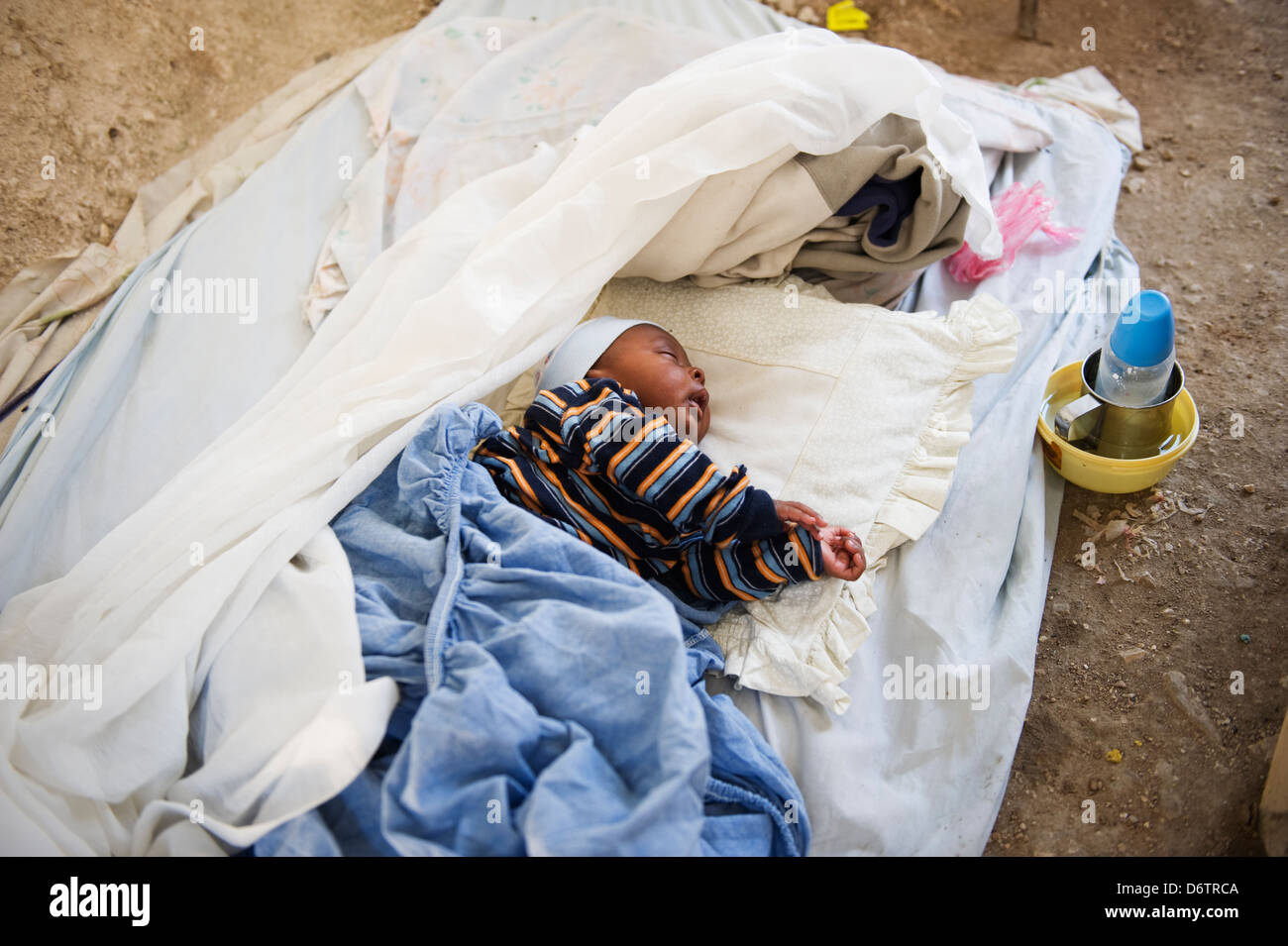 living conditions after the January 2010 earthquake, Port au Prince, Haiti, Caribbean - Stock Image