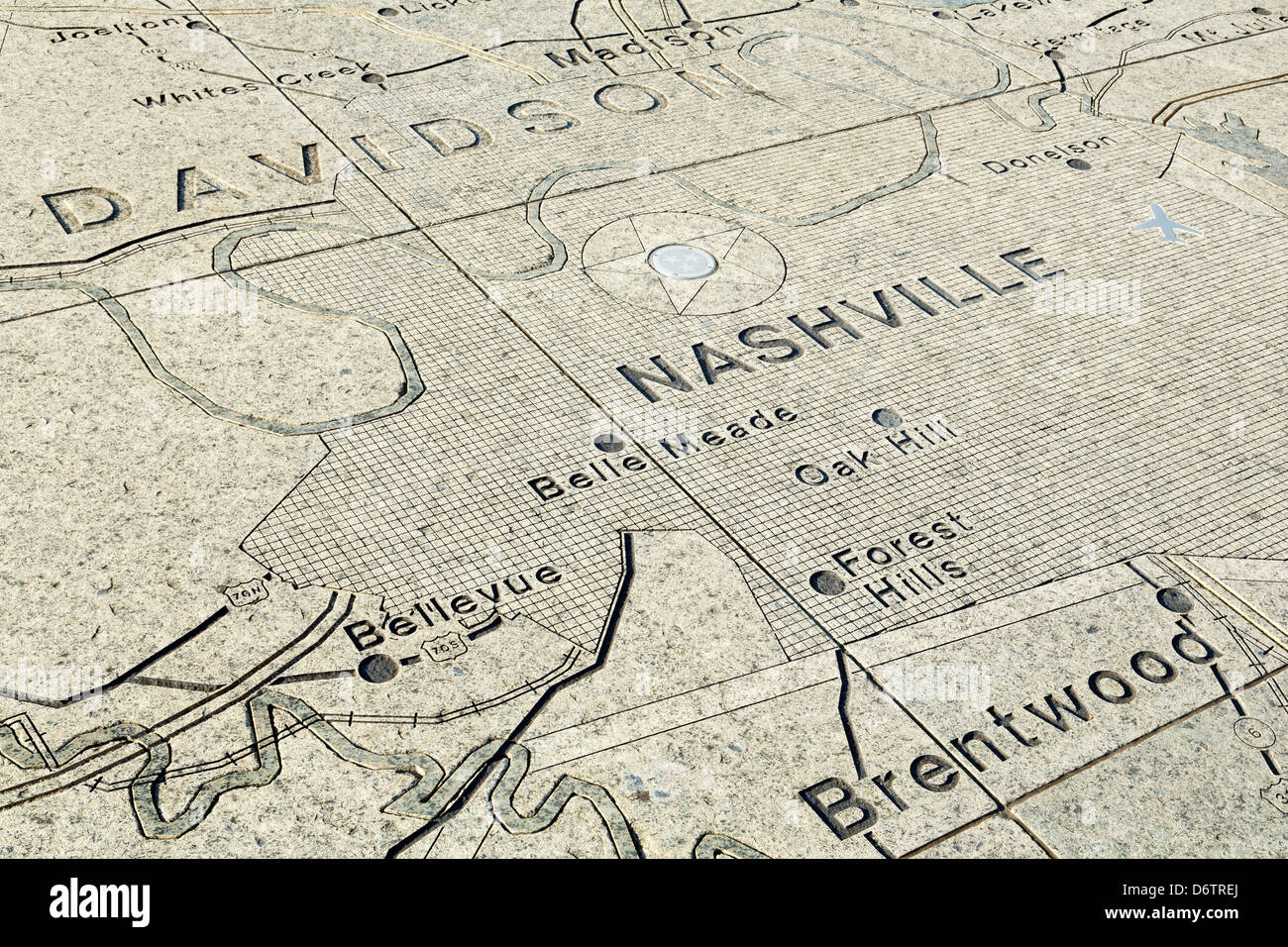 State Parks Tennessee Map.Map In Bicentennial Capitol Mall State Park Nashville Tennessee Usa