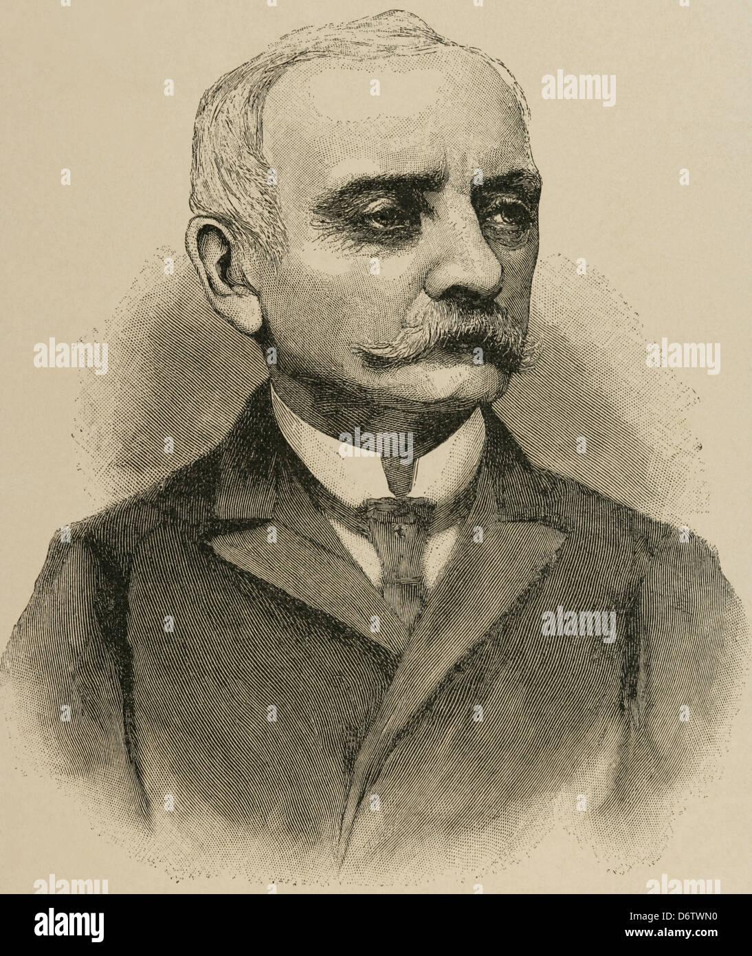 Chlodwig Carl Viktor (1819-1901). German statesman. Engraving. - Stock Image