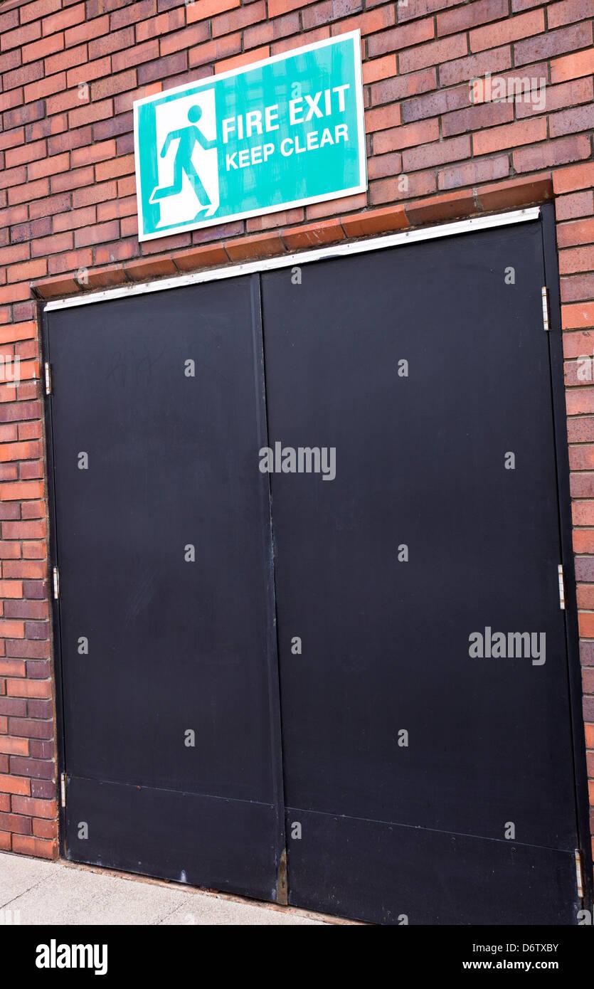 External Fire Exit doors Stock Photo