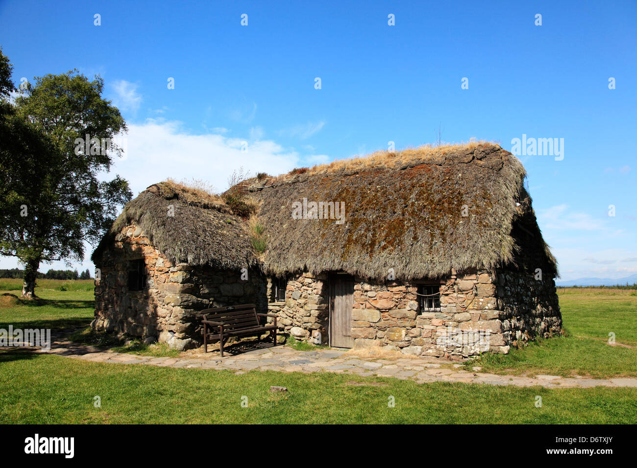 old house in culloden battlefield culloden inverness highlands stock photo 55866803 alamy. Black Bedroom Furniture Sets. Home Design Ideas