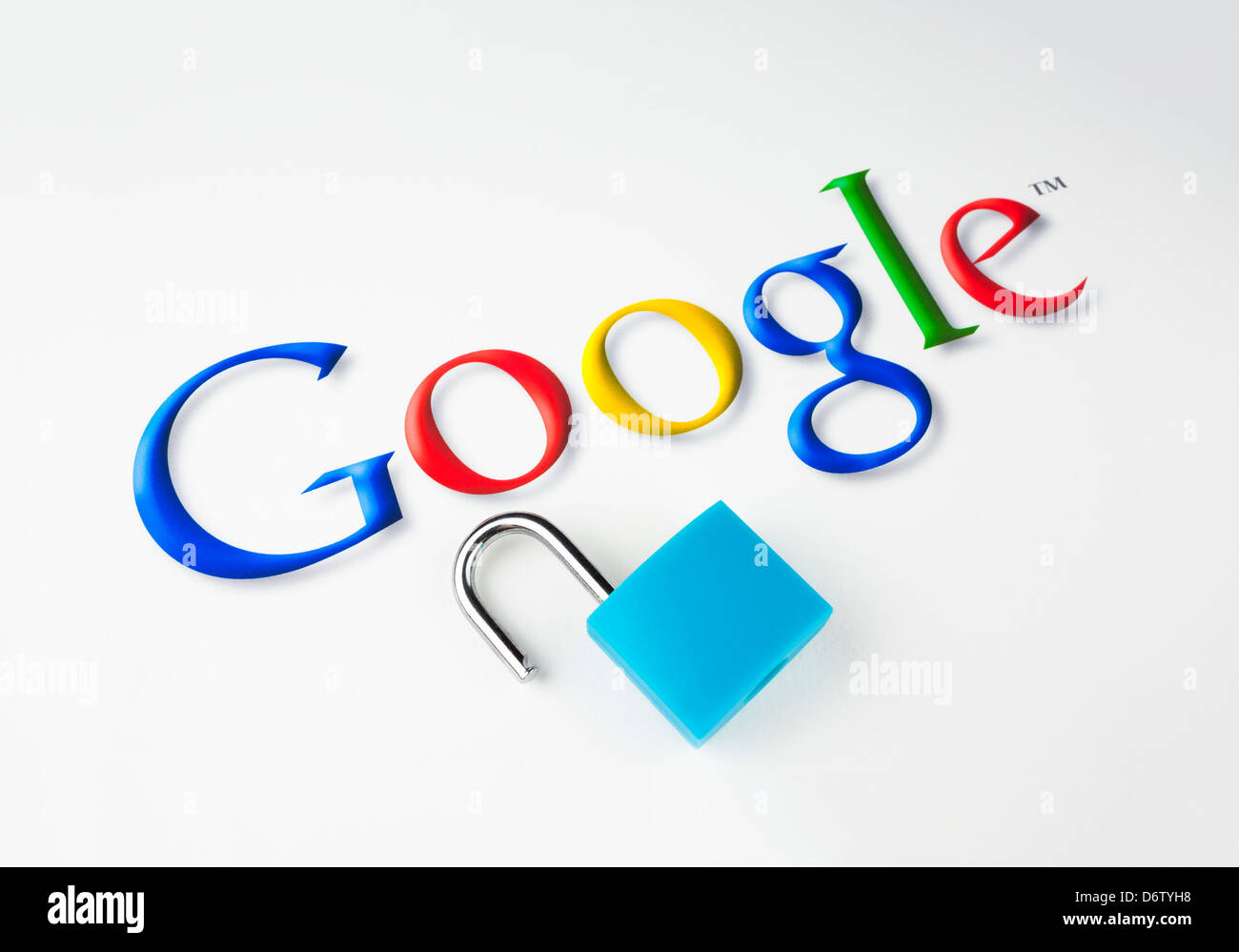 Google and data protection - Stock Image