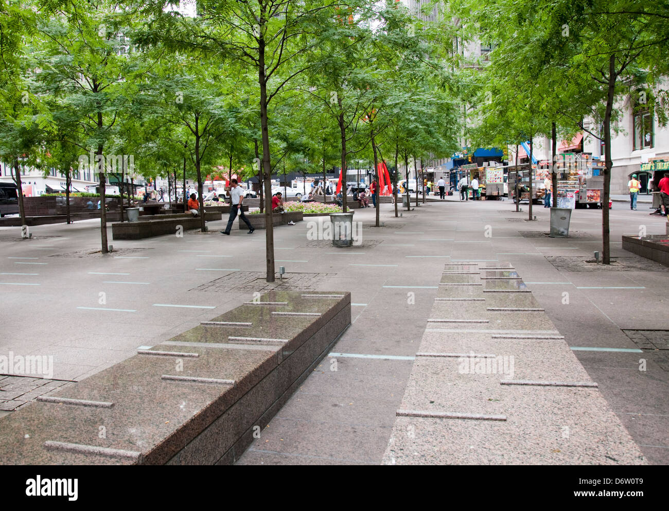 Zuccotti Park in New York City, USA Stock Photo