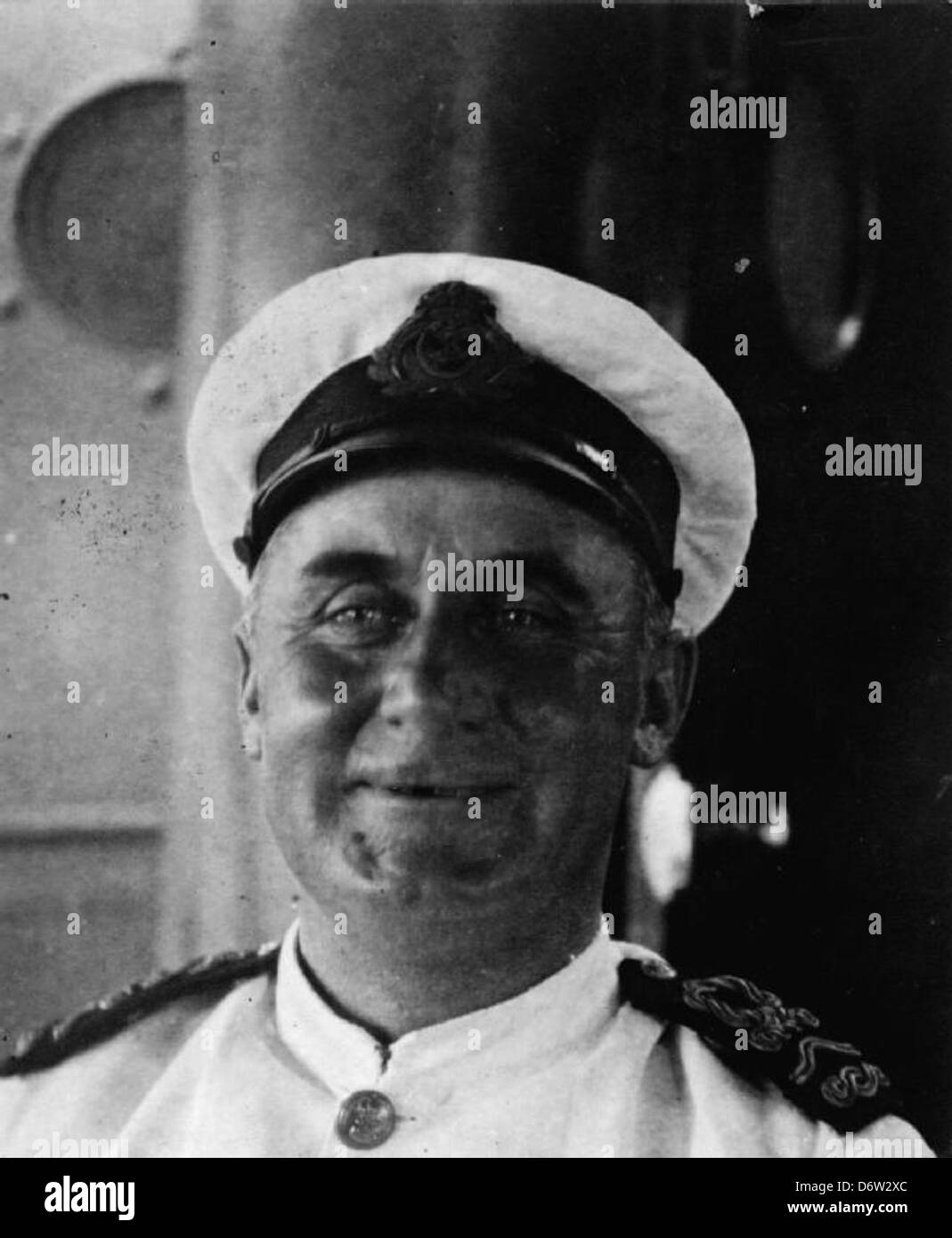 Lieutenant Commander C Baron - Stock Image