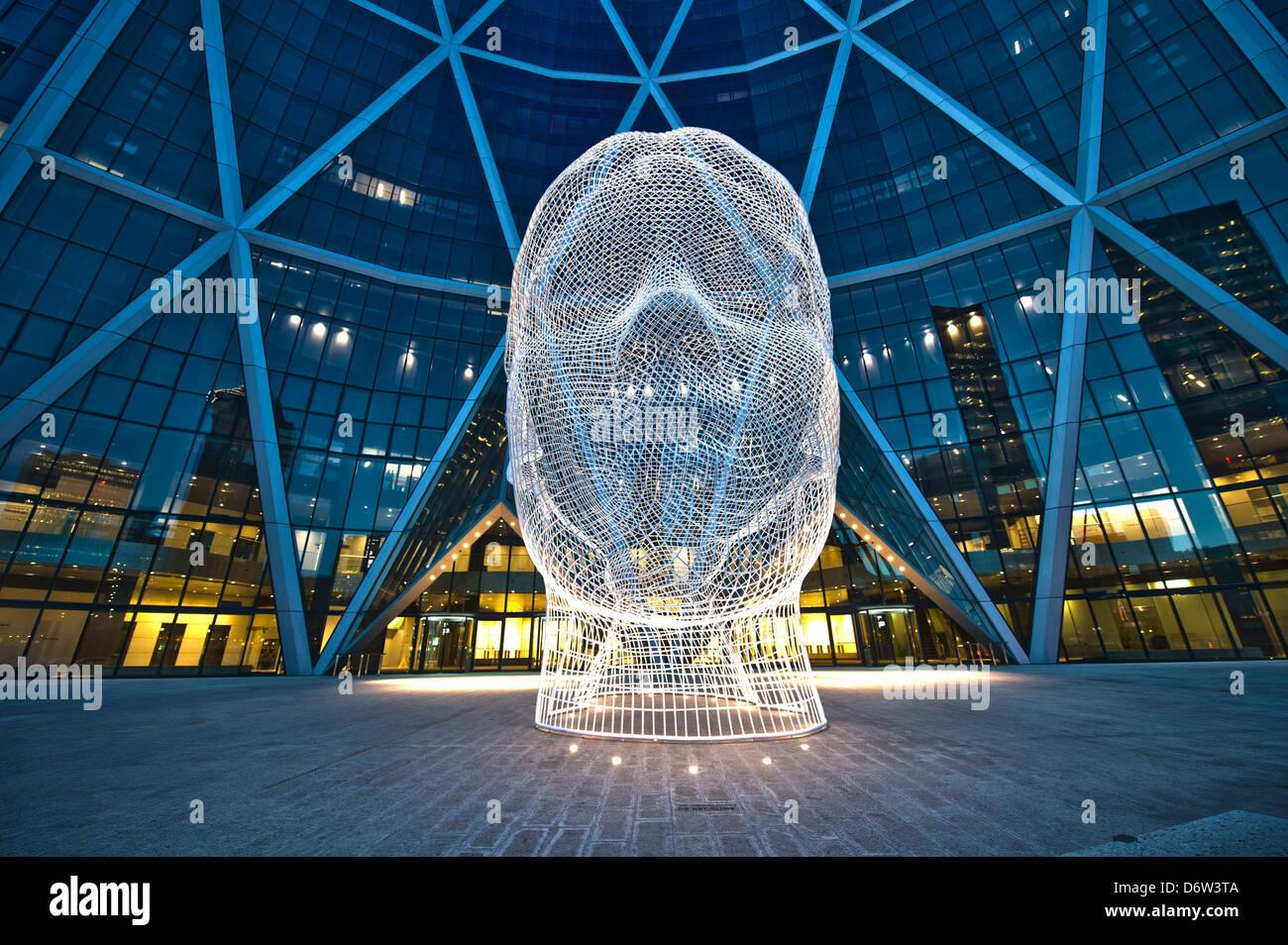 Jaume Plensa Wonderland Sculpture Calgary Alberta Canada Stock ...