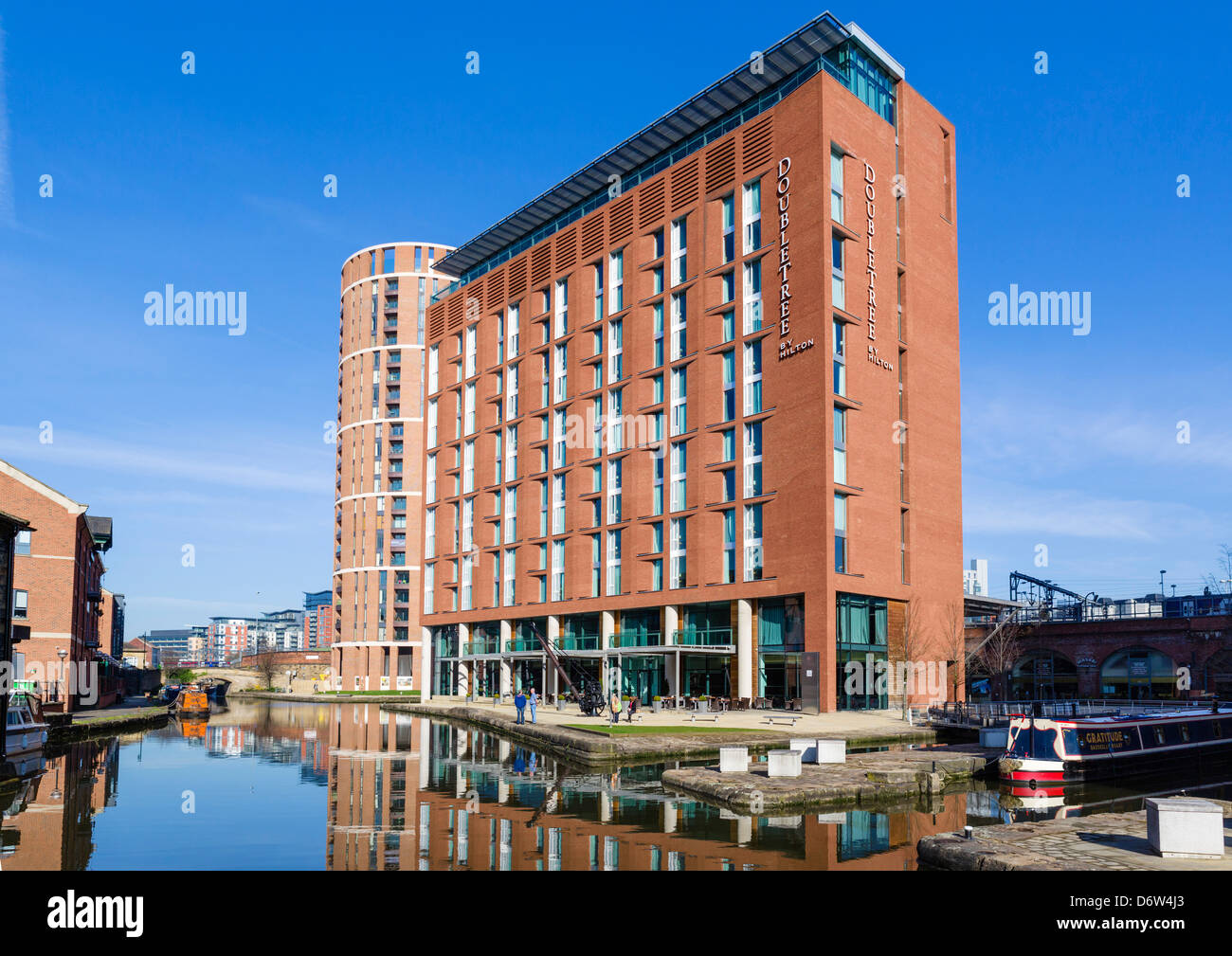 The DoubleTree Hotel by Hilton at Granary Wharf in the city centre, Leeds, West Yorkshire, UK - Stock Image