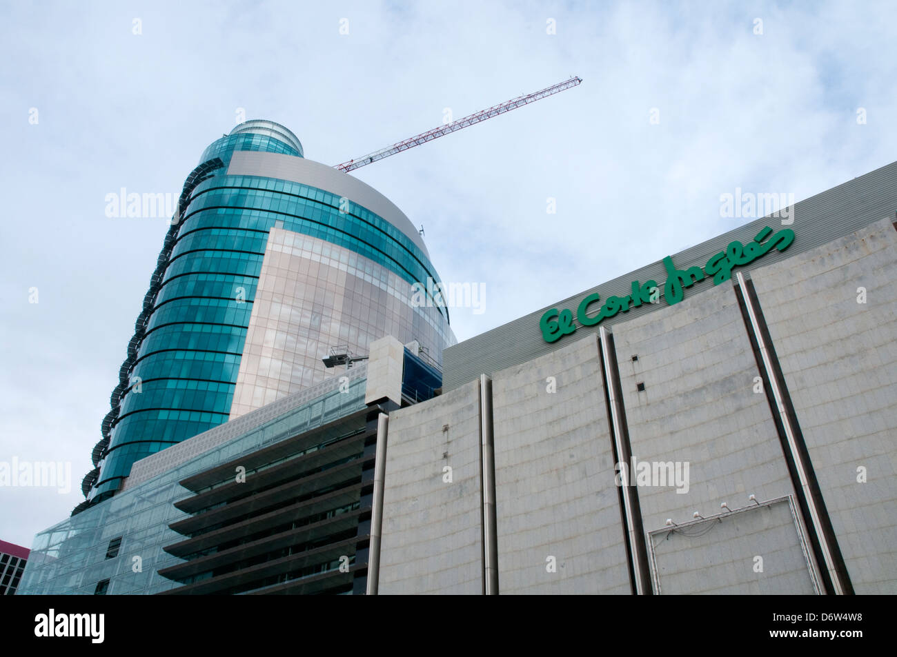 Titania Tower, El Corte Ingles. AZCA, Madrid, Spain. - Stock Image