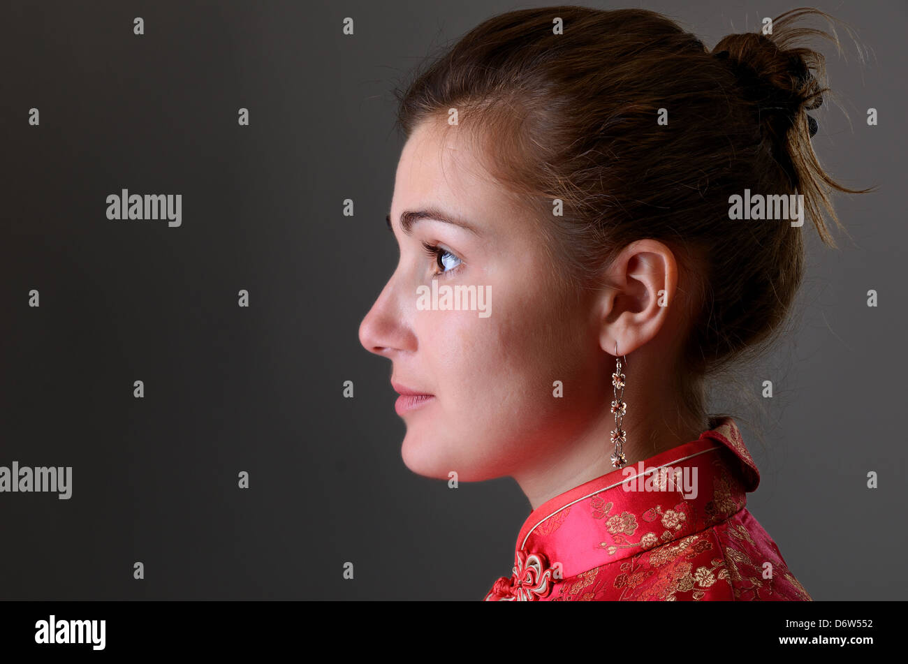 88491b13a Caucasian girl in the Chinese dress · OlegMit / Alamy Stock Photo