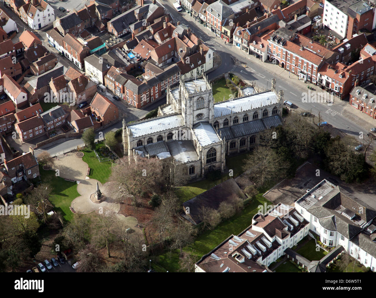 aerial view of St Marys Church in Beverley, East Yorkshire Stock Photo
