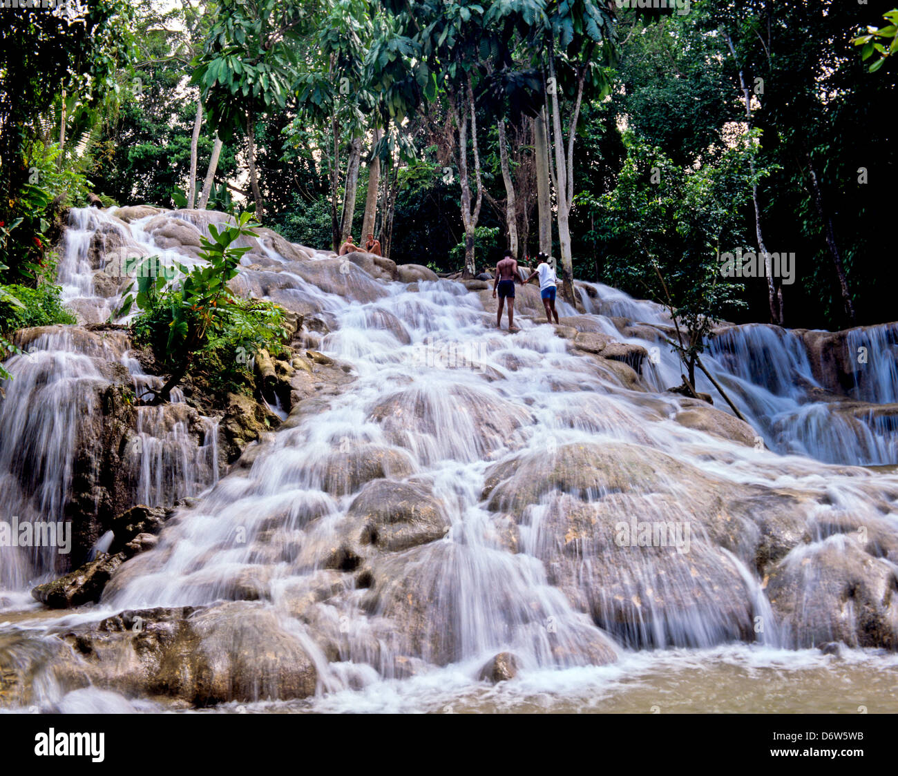 8415. Dunn's River Falls, Ocho Rios, Jamaica, Caribbean, West Indies - Stock Image