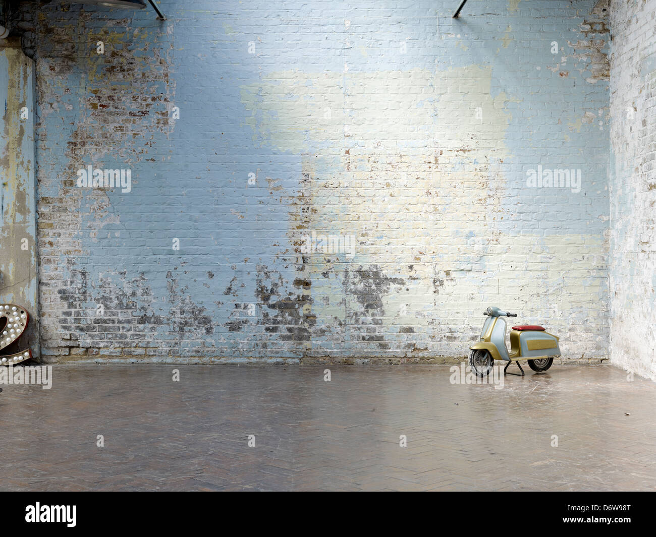 Old Painted Brick Wall Distressed Stock Photo 55875144