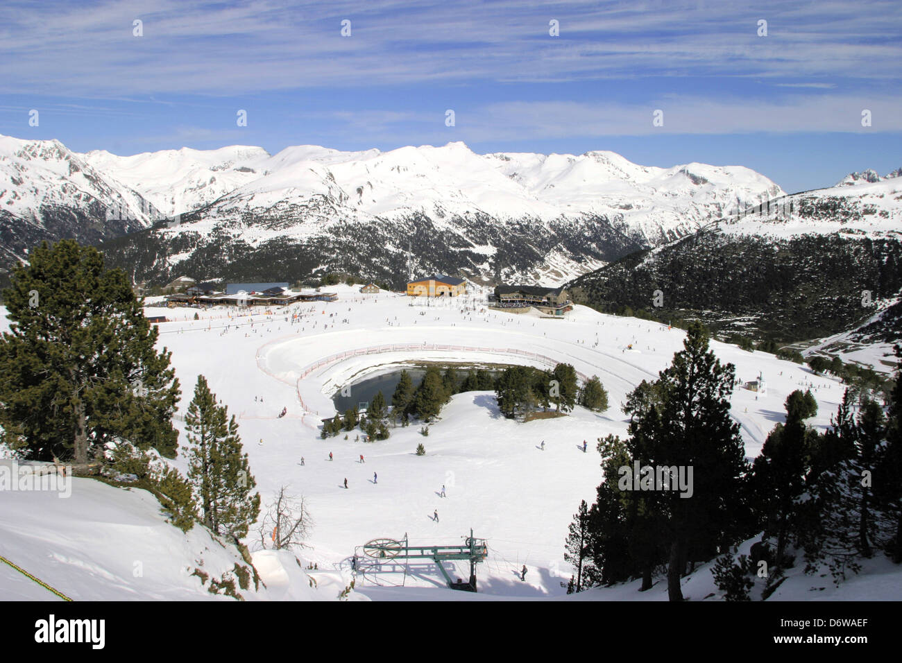 andorra, soldeu, view of ski resort stock photo: 55876087 - alamy