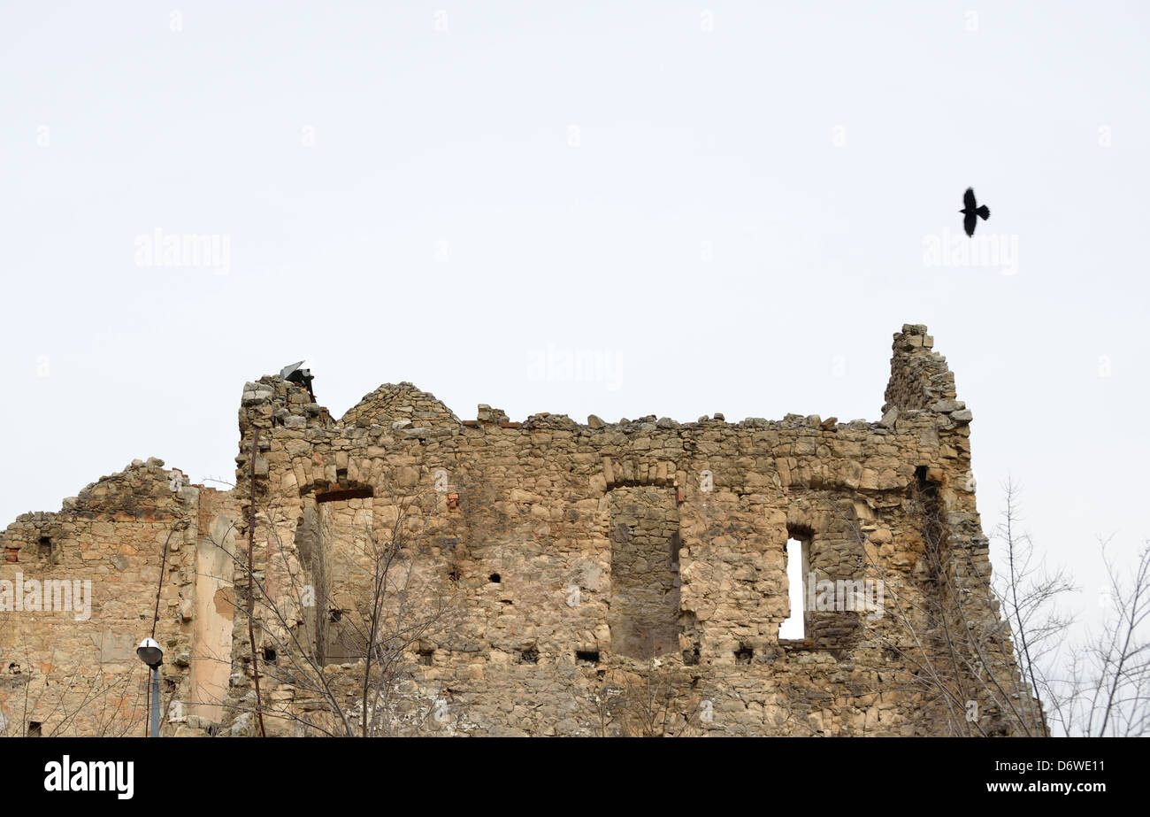 Civil war ruins, Mostar, Bosnia and Herzegovina Stock Photo