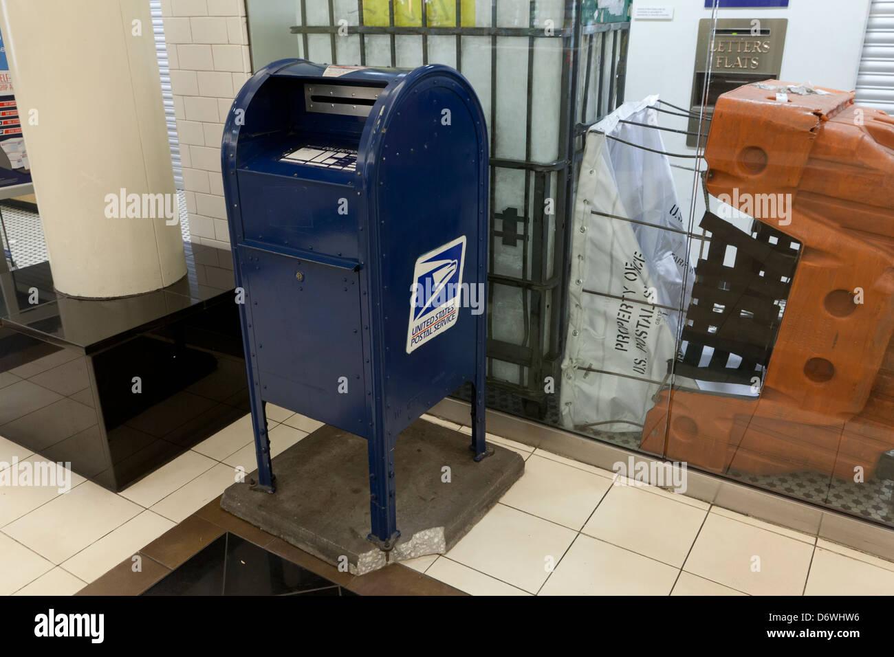 USPS mailbox - Stock Image