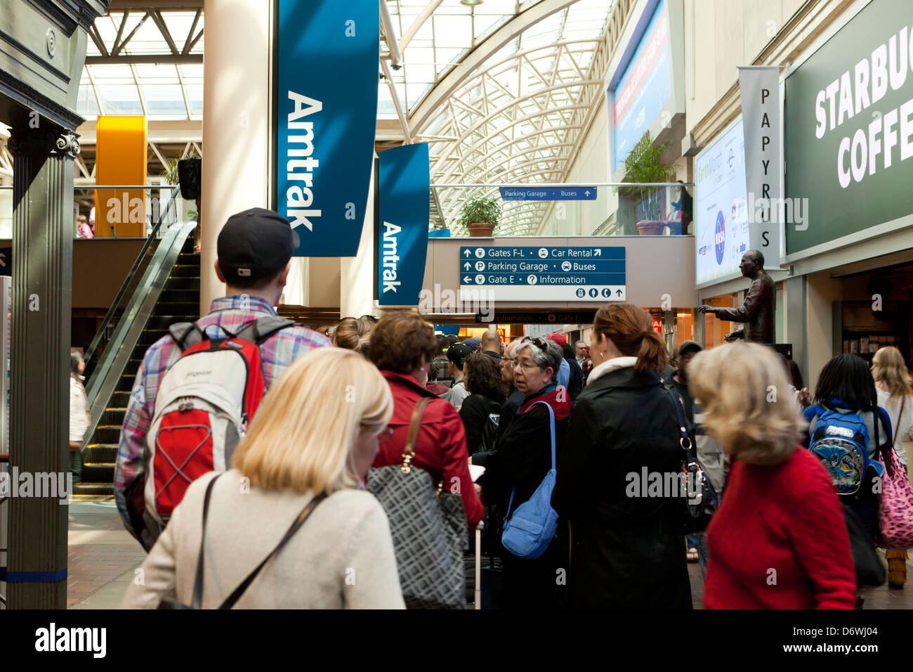 2d0ce55266 Amtrak train station, Union Station - Washington, DC USA Stock Photo ...