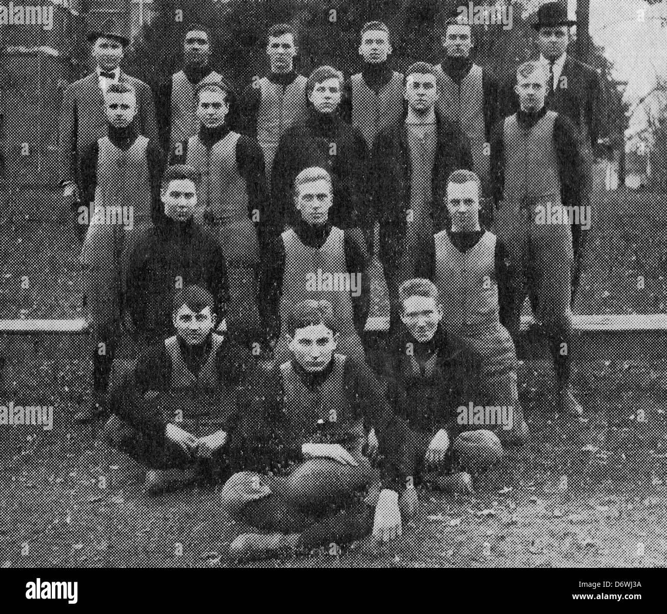 Ohio's Champion High School Football Team - The Fostoria eleven, 1912 - Stock Image