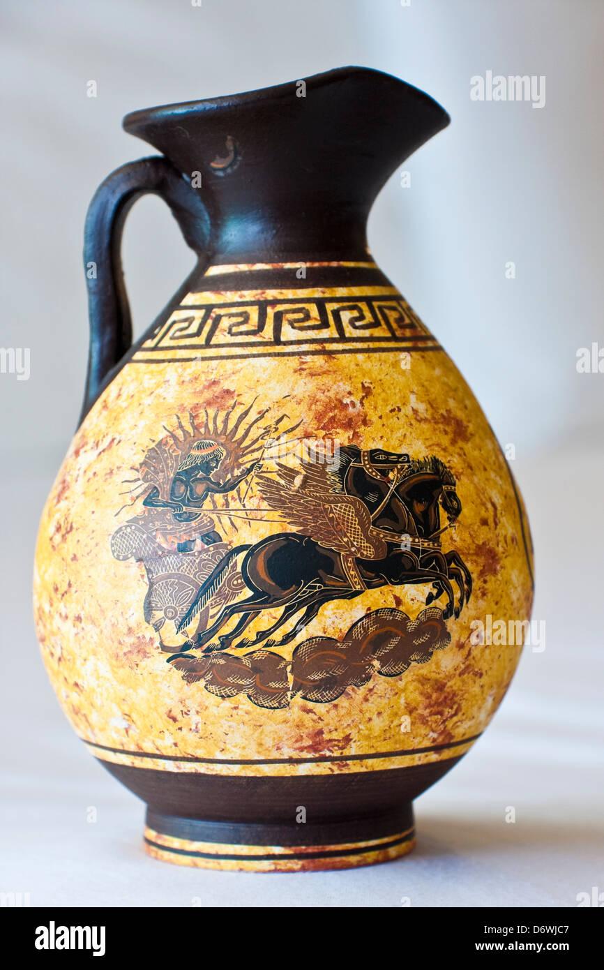 Ancient Greek vase, Athens, Greece - Stock Image