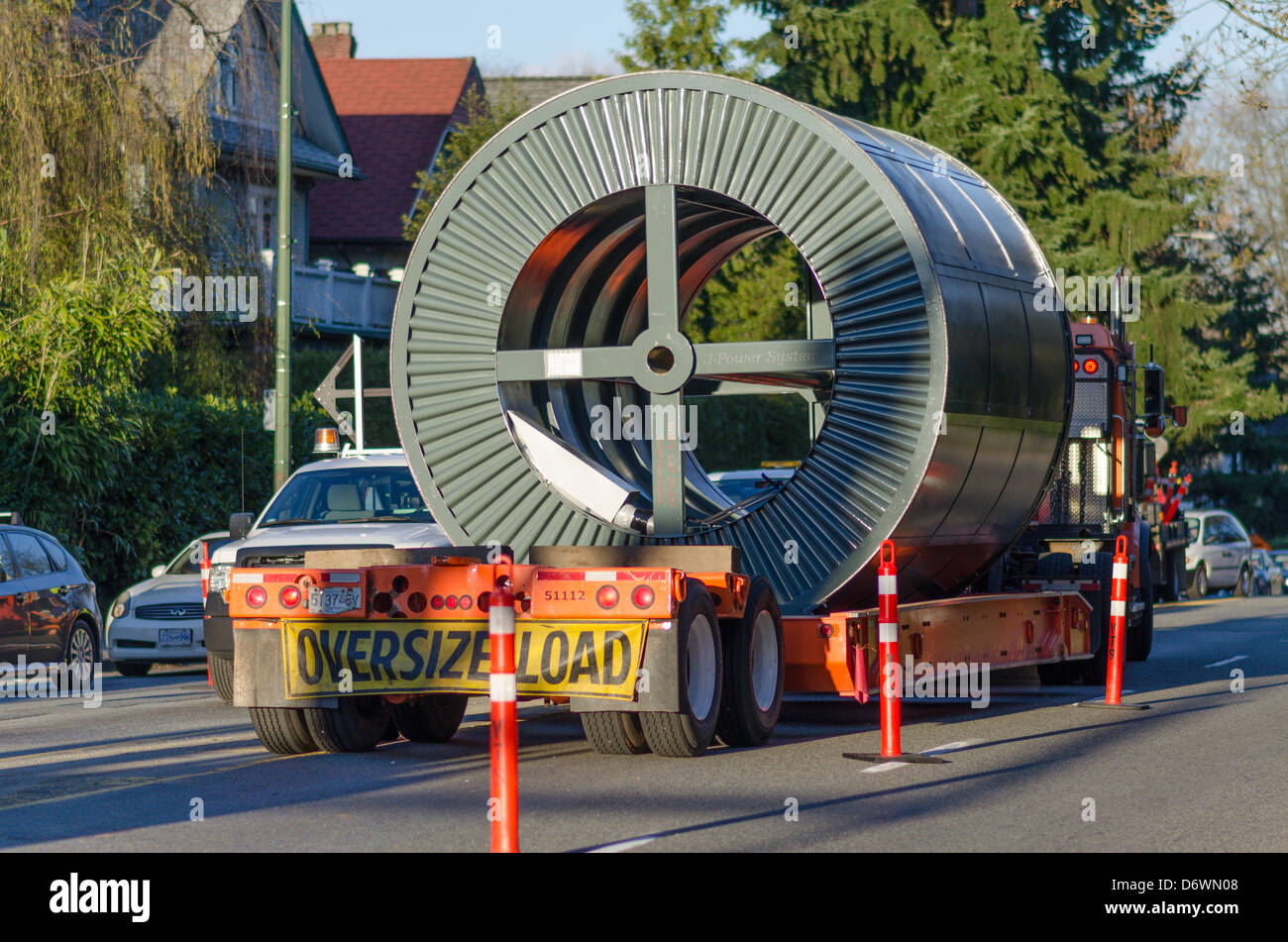 Oversize load on truck. - Stock Image