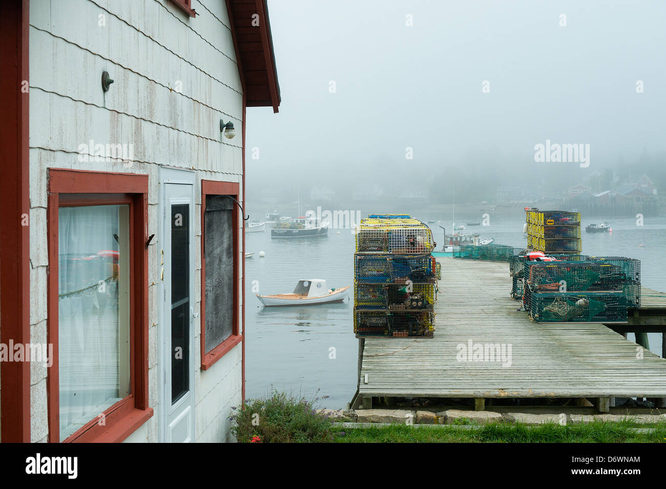 Fishing shack, Bernard, Mt Desert Island, Maine, USA - Stock Image