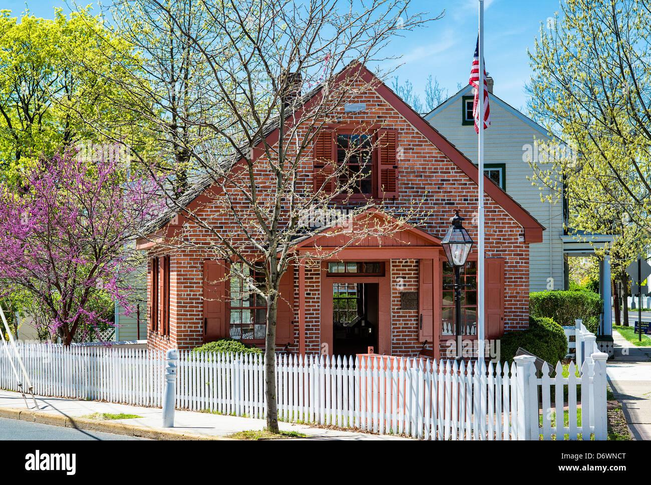 Clara Barton School, Bordentown, New Jersey, USA Founder of the American Red Cross - Stock Image