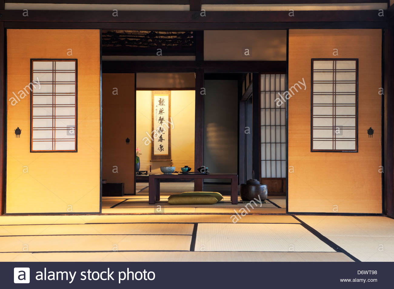 Interior of Traditional Japanese House Dining Room at The Huntington Botanical Gardens San Marino & Traditional Japanese House Interior Stock Photos \u0026 Traditional ...