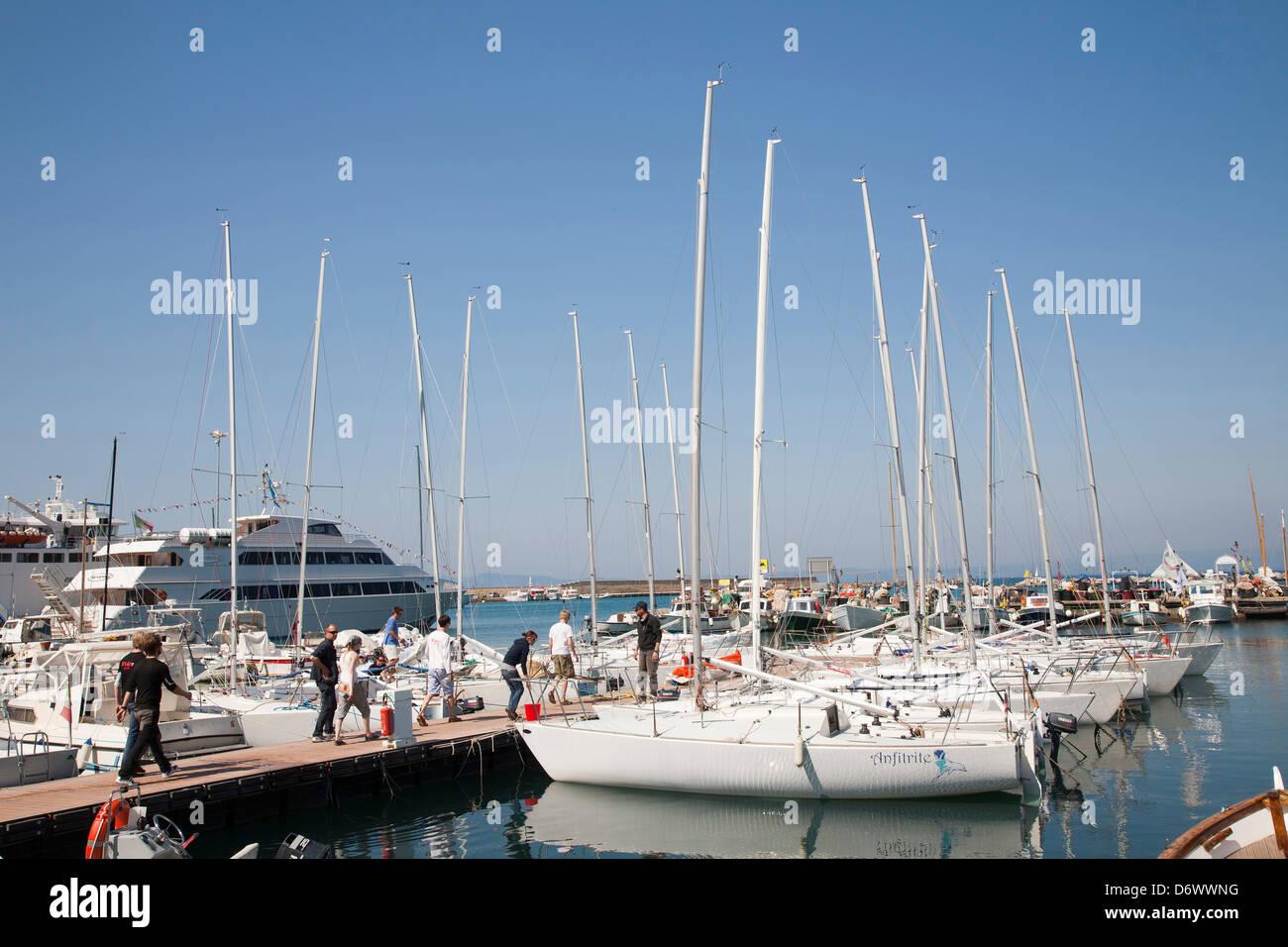 europe, italy, tuscany, argentario, porto santo stefano, port Stock Photo