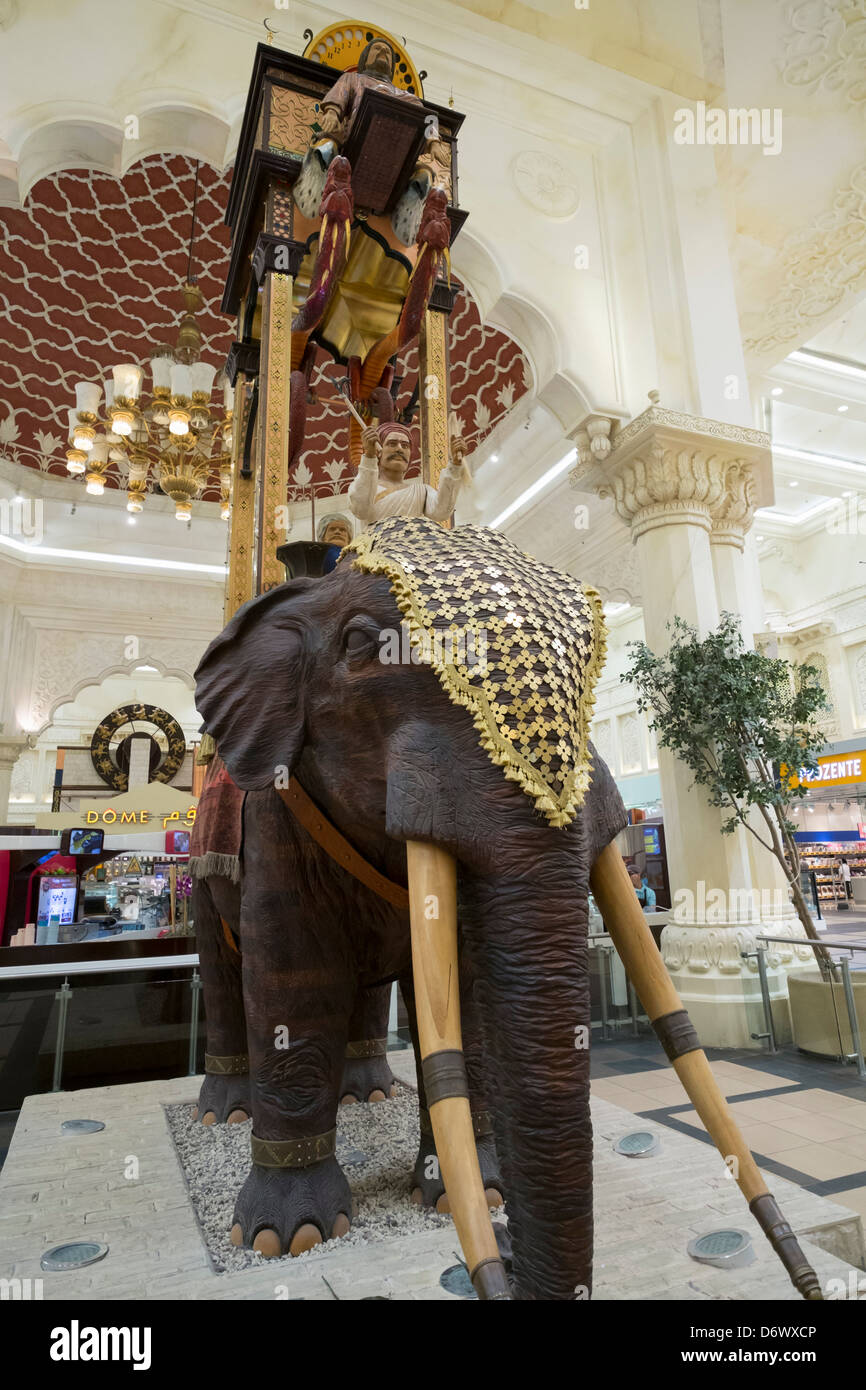 India court with elephant statue at Ibn Battuta shopping