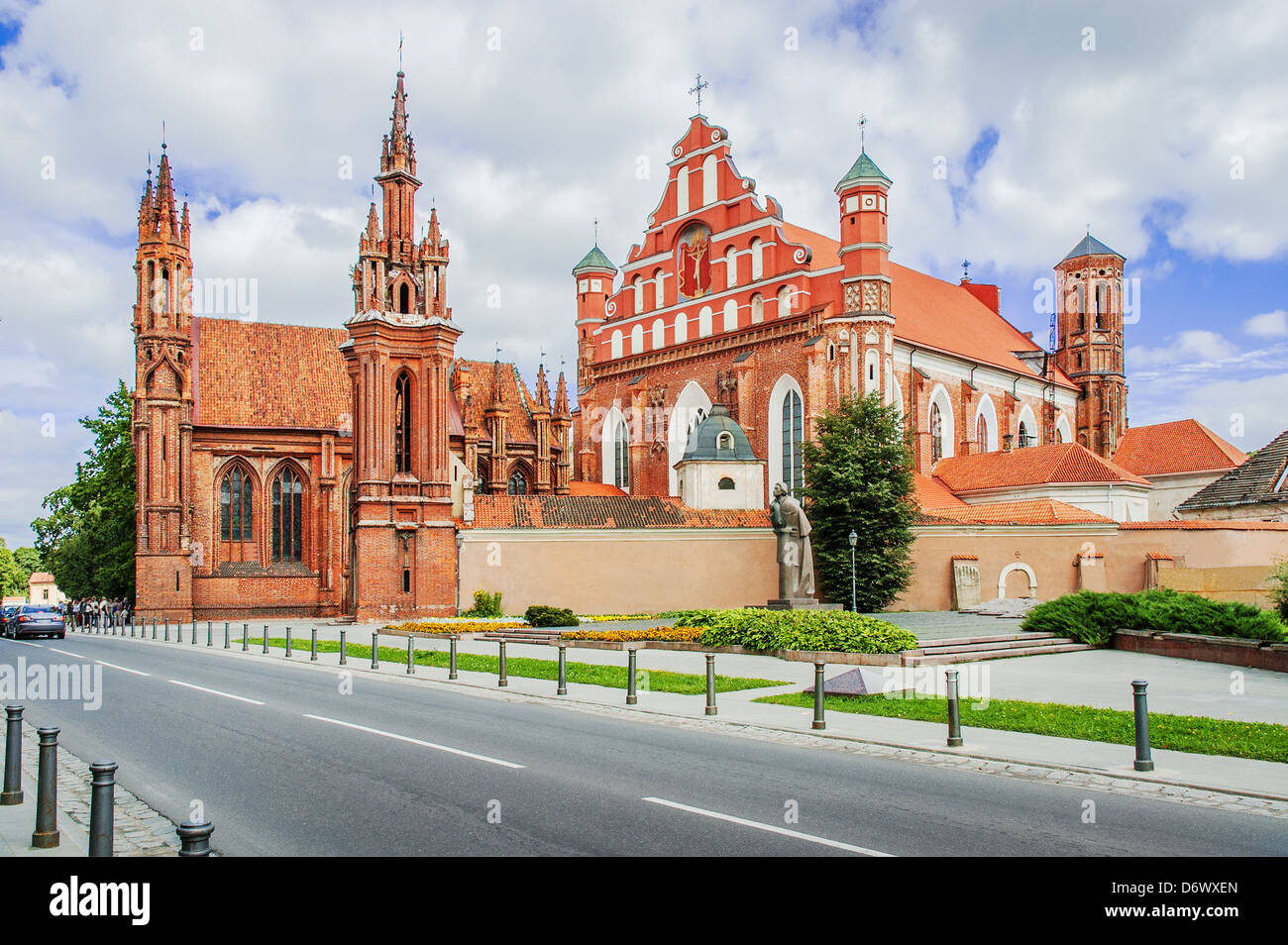 St Anne's church in Vilnius, Lithuania. UNESCO world heritage site. 15-th century Stock Photo