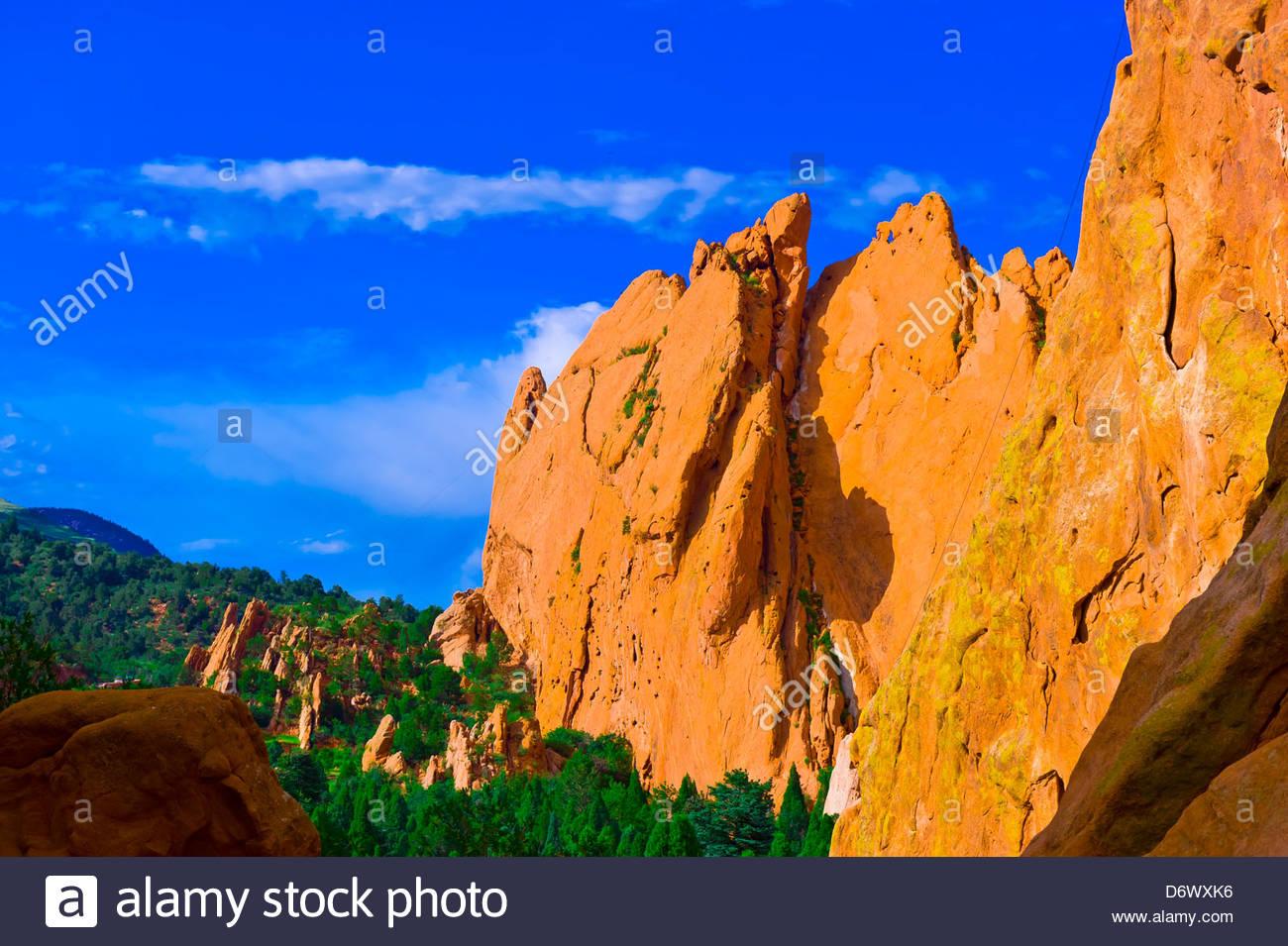 Garden of the Gods, Colorado Springs, Colorado USA - Stock Image