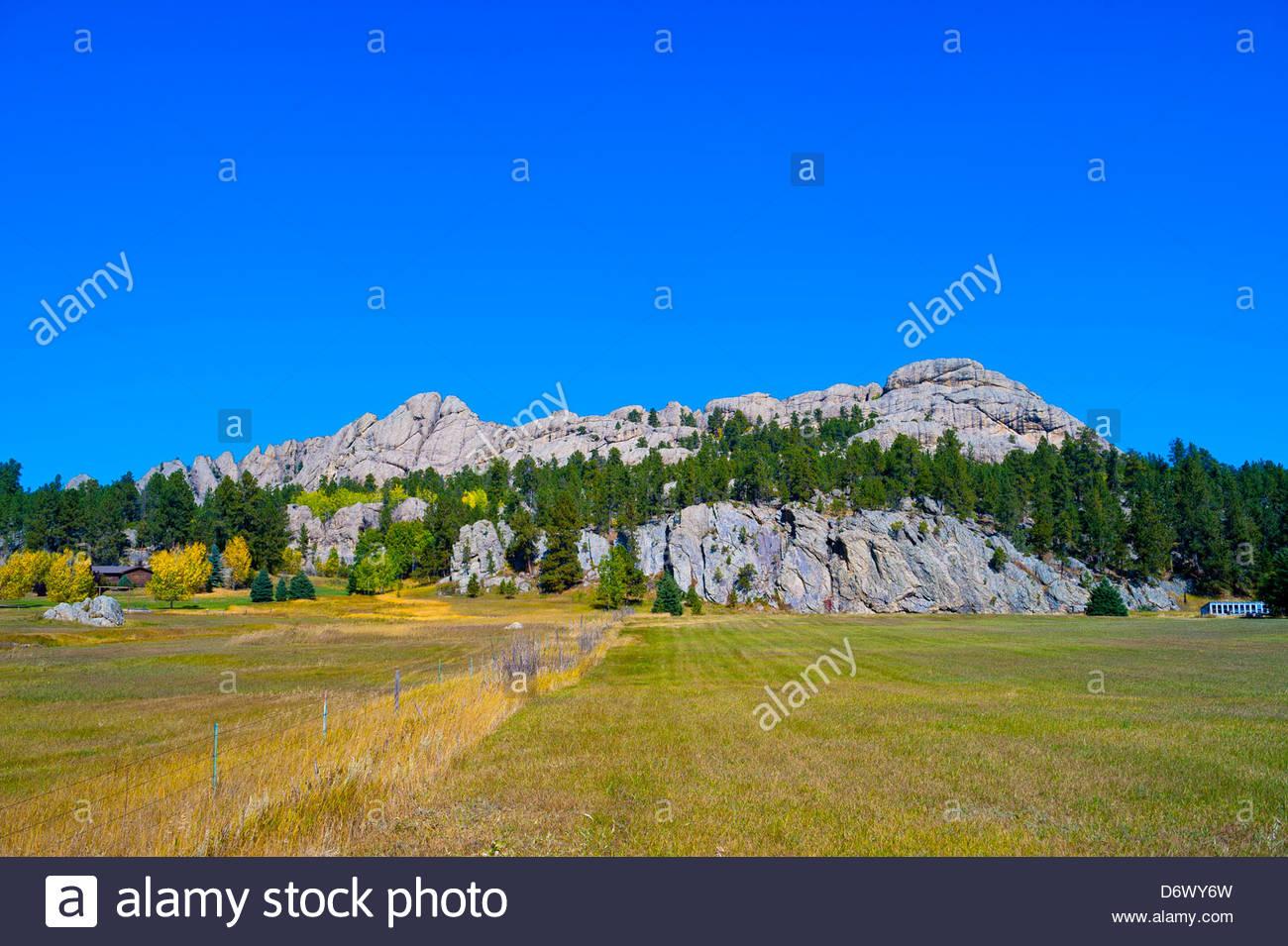 Outlaw Ranch, near Custer (Black Hills), South Dakota USA - Stock Image