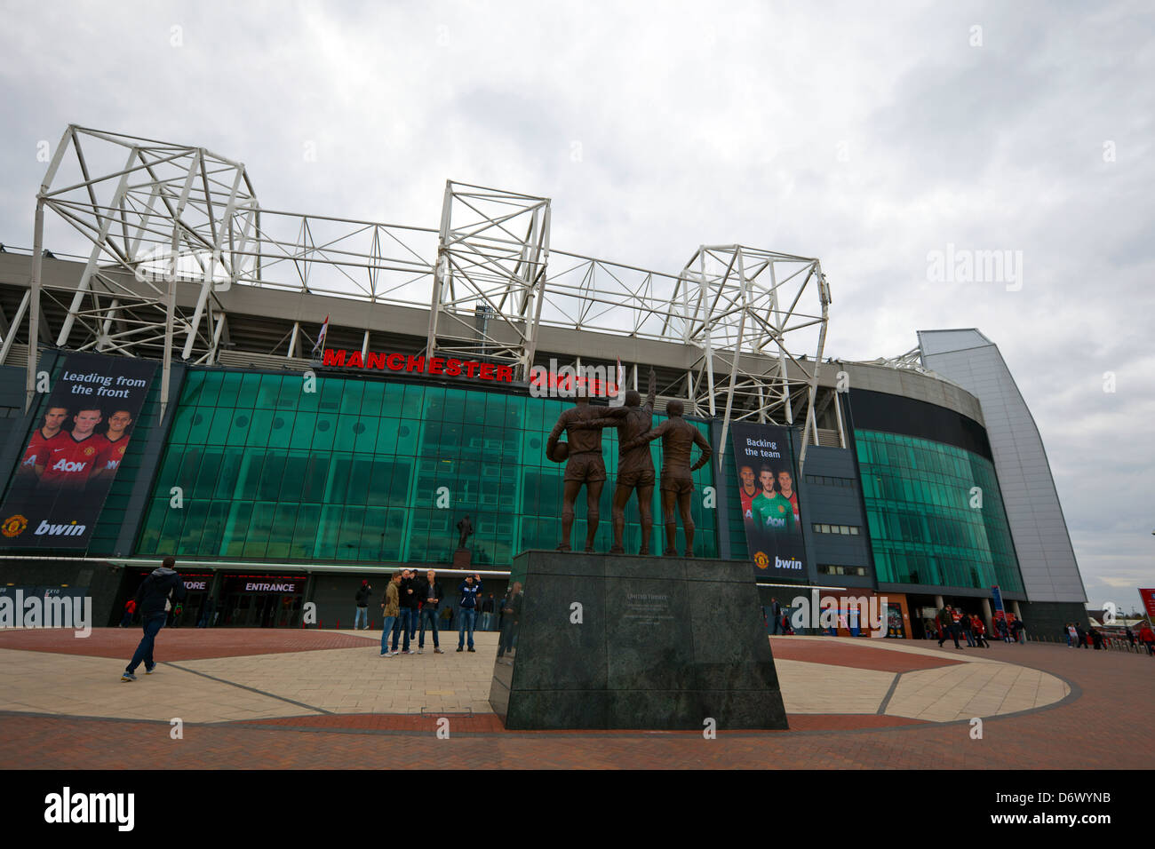 Manchester United stadium in Old Trafford. - Stock Image