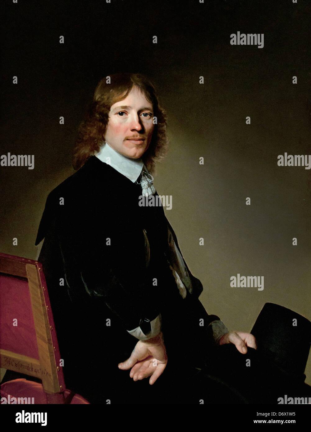 Portrait of Eduard Wallis 1652 Johannes Verspronck Dutch Netherlands - Stock Image