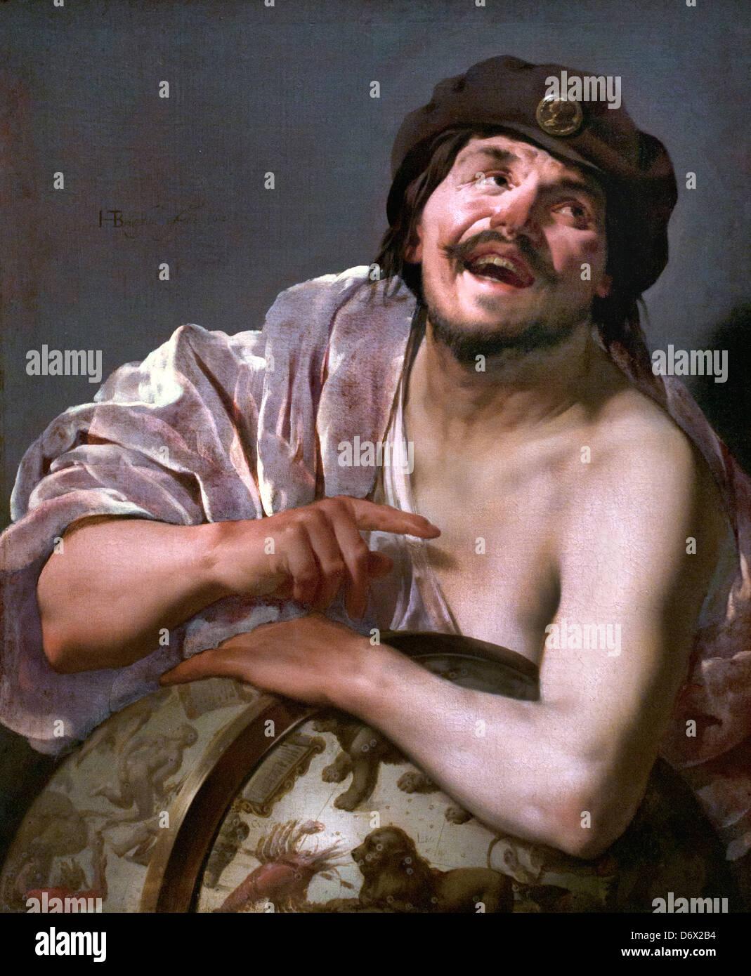 The Greek philosopher Democritus1628  Hendrick ter Brugghen 1588-1629 Dutch Netherlands - Stock Image
