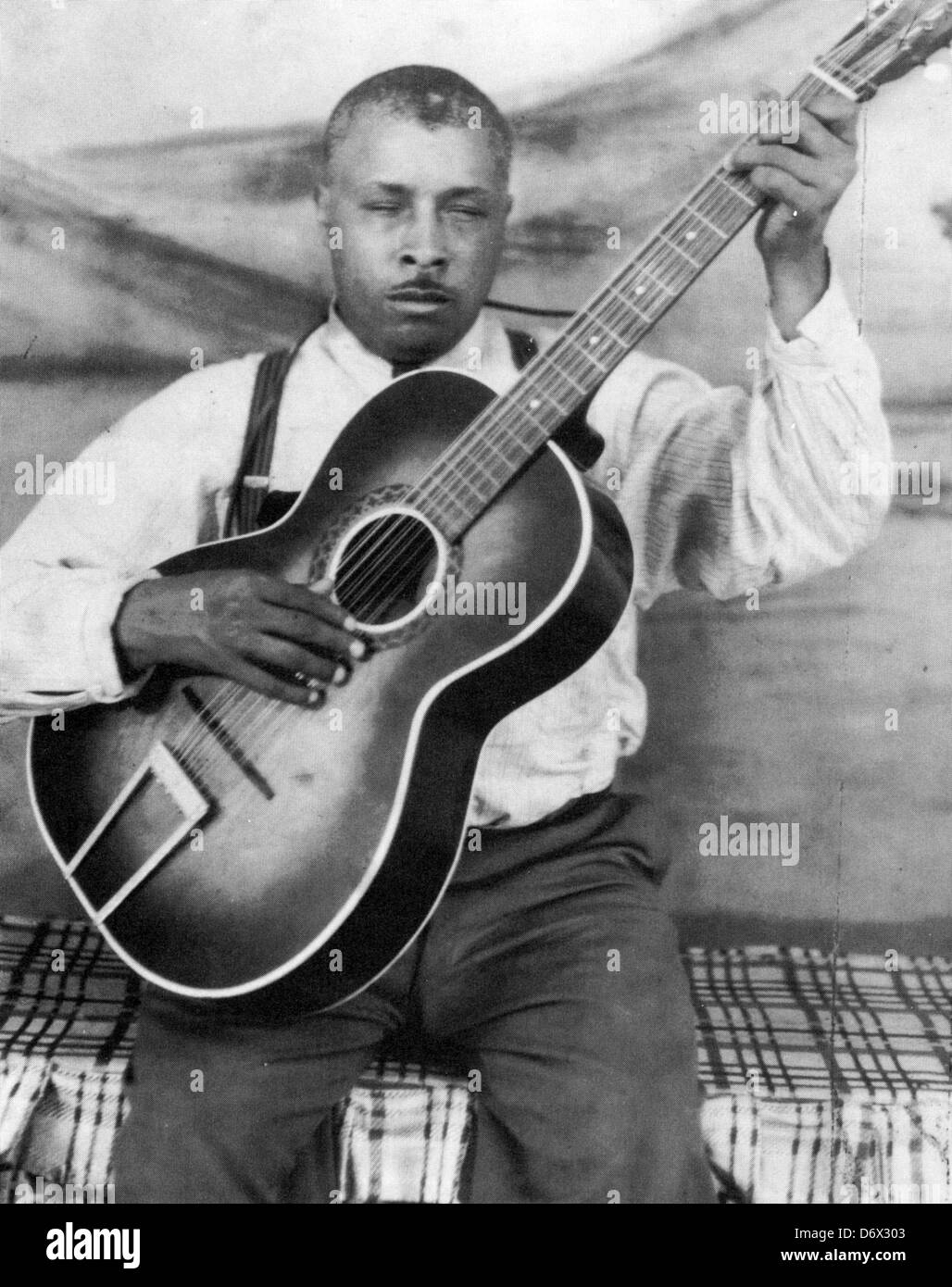 BLIND WILLIE McTELL (1898-1959) US Blues musician about 1955 - Stock Image