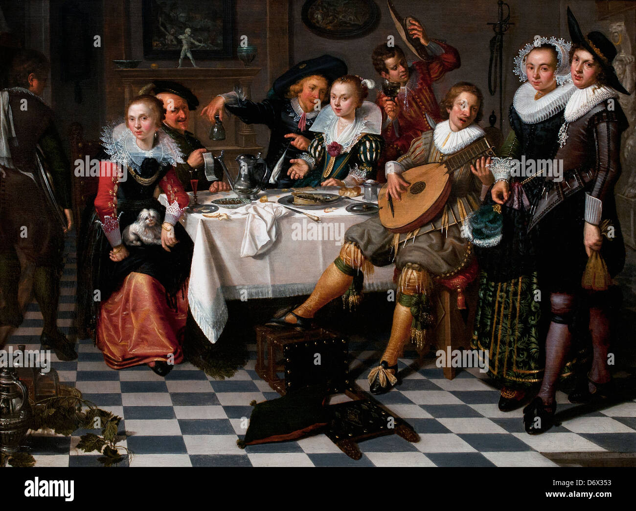 Mery Company 1629 Isack Elyas Dutch Netherlands - Stock Image