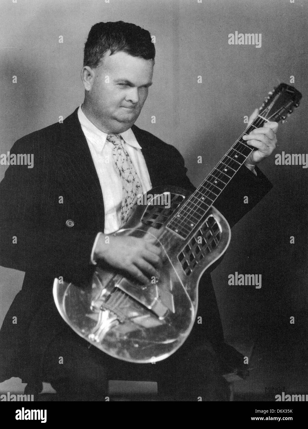 RILEY PUCKETT (1894-1946) US Country musician - Stock Image