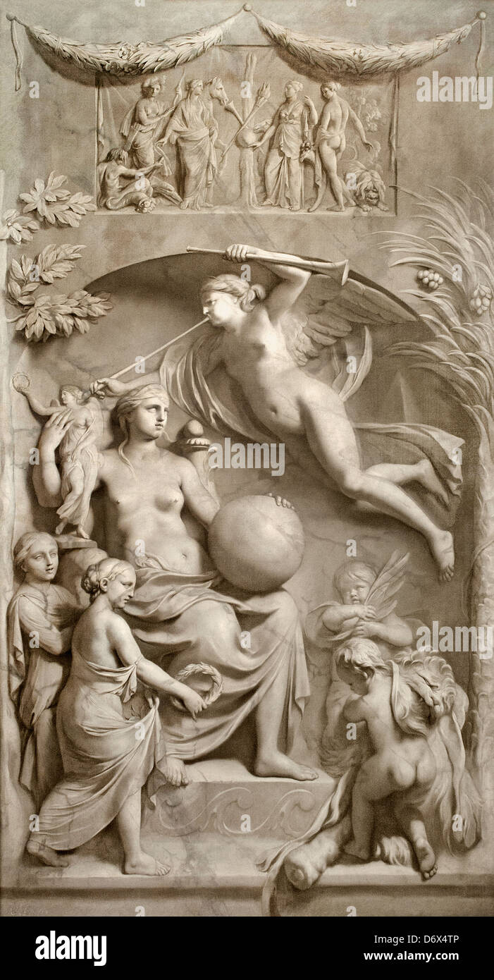 Allegory of Fame 1675 - 1683 Gerard de Lairesse 1641 - 1711 Dutch Netherlands - Stock Image