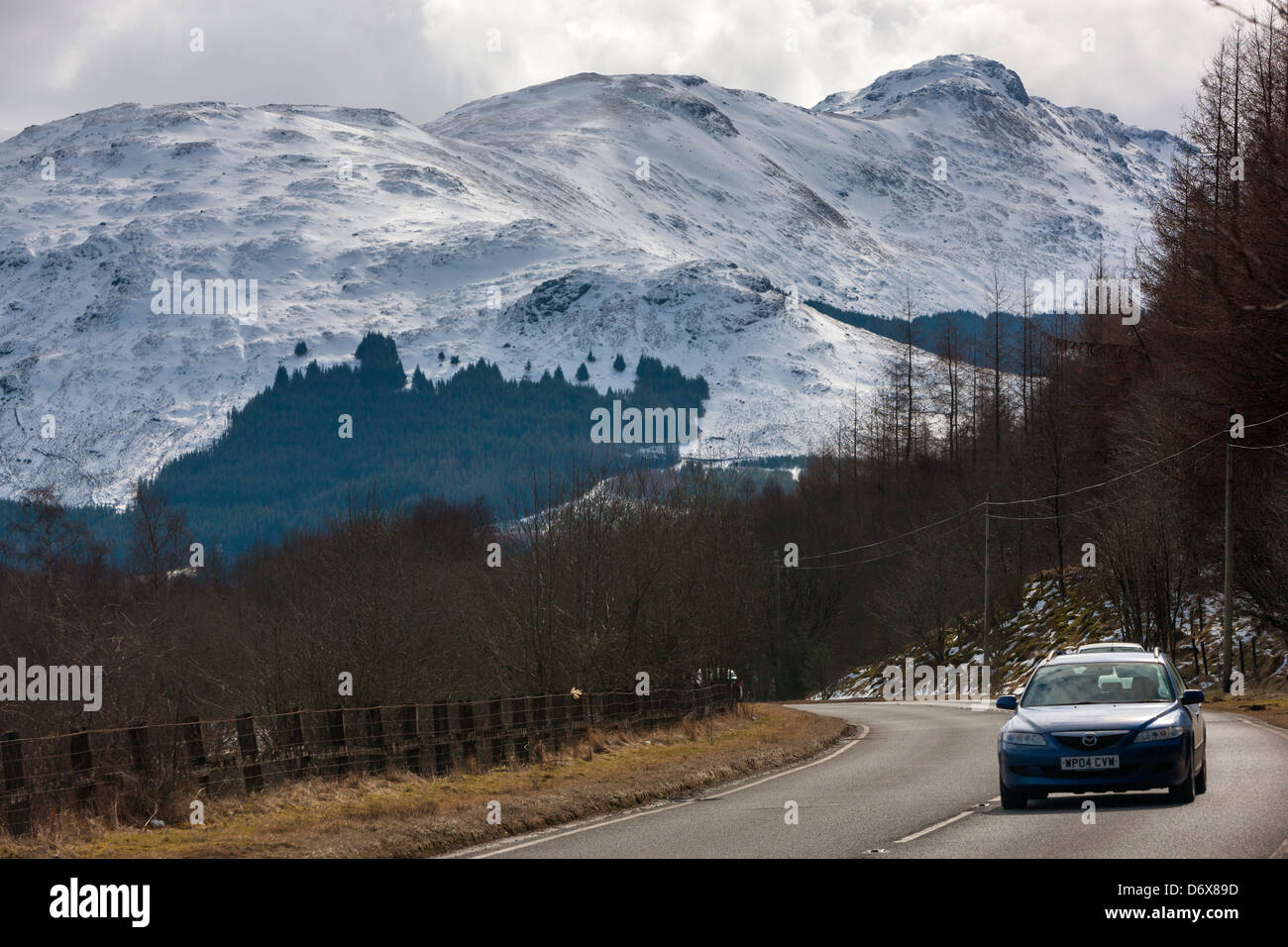 A view towards Ben More, Tyndrum, Stirling, Scotland, UK, Europe. - Stock Image