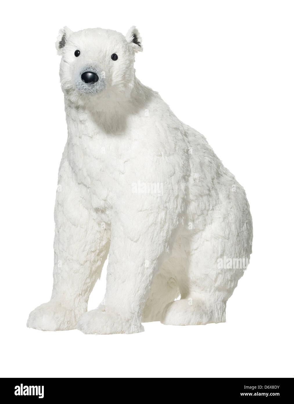 Xmas Tree Decorations White Polar Bear Stock Photo 55896455