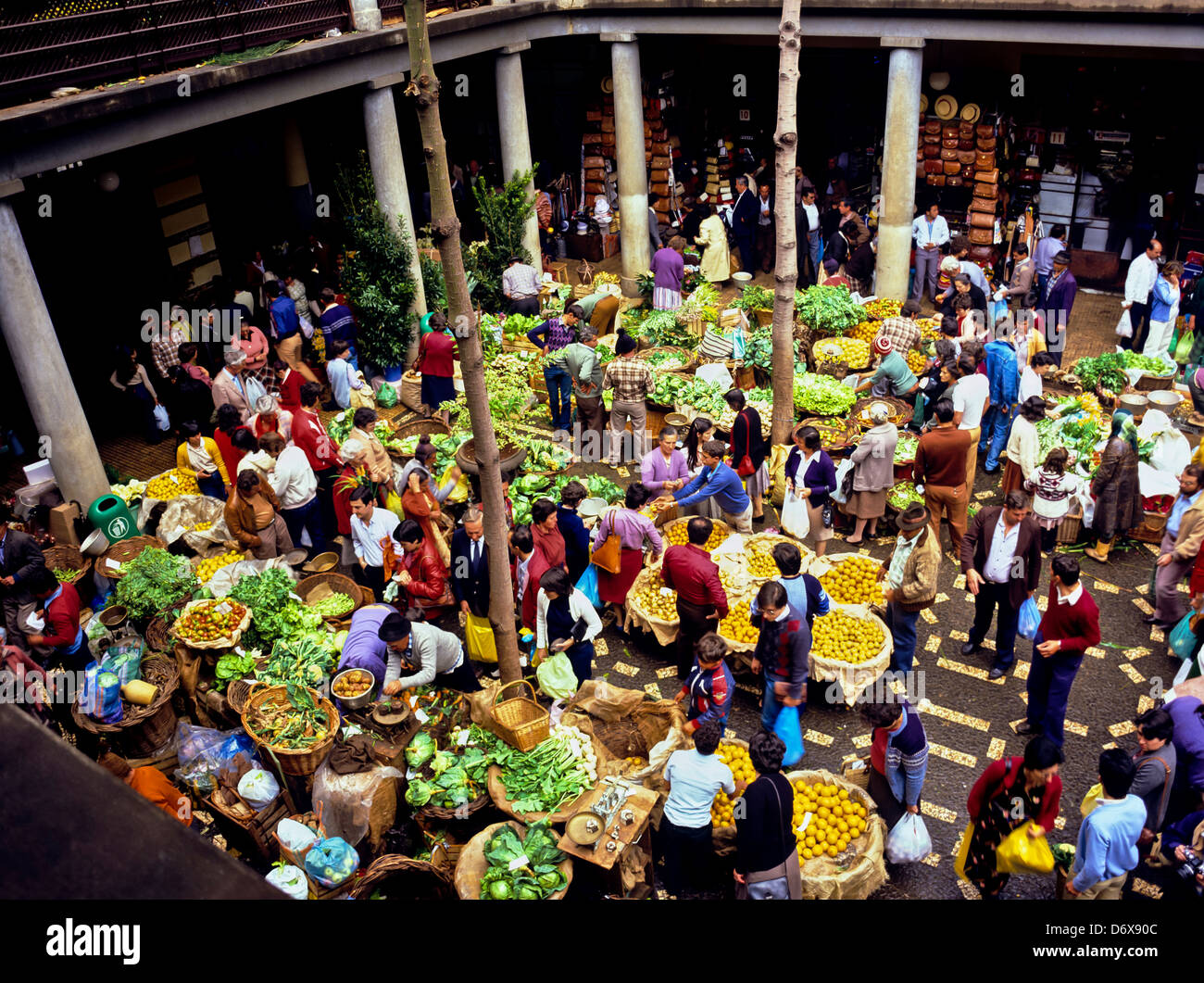 8626. Fruit & Vegetable Market, Funchal, Madiera, Portugal, Europe - Stock Image